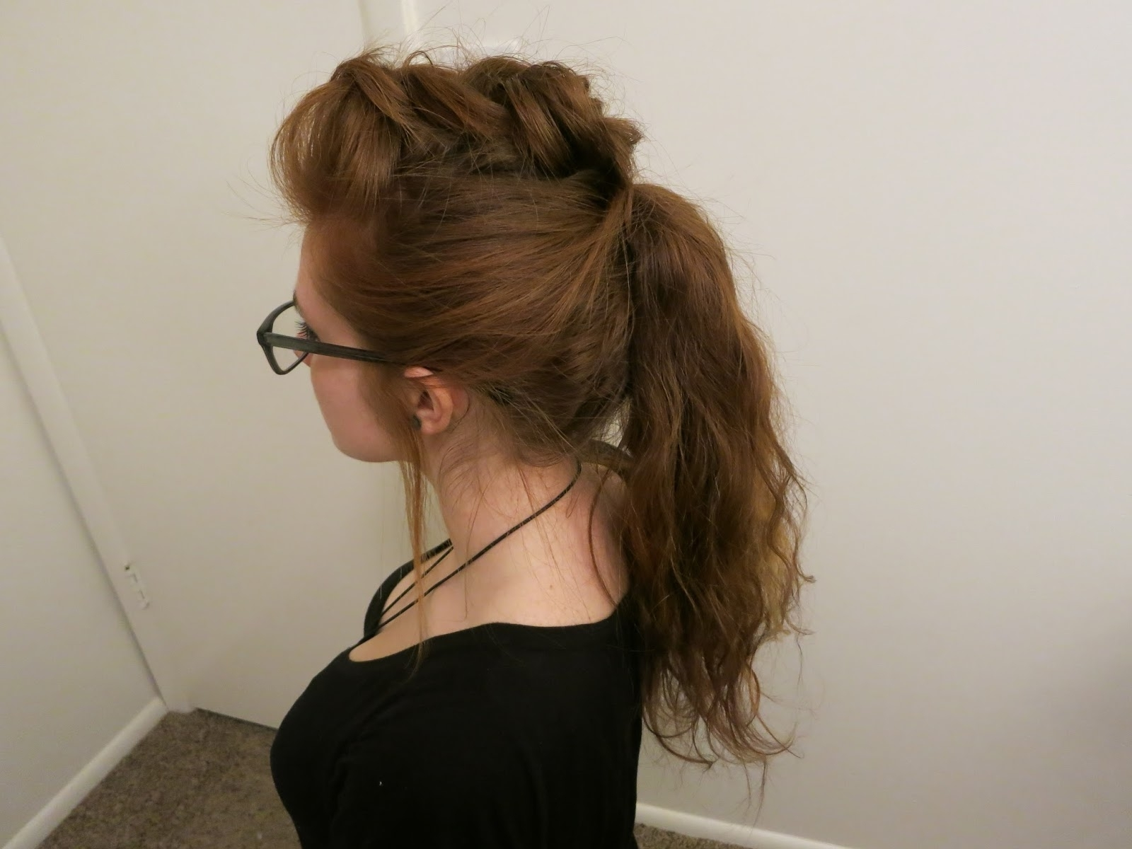 Well Known Fauxhawk Ponytail Hairstyles For Beauty Blogangela Woodward: Textured Braided Fauxhawk Ponytail (View 17 of 20)