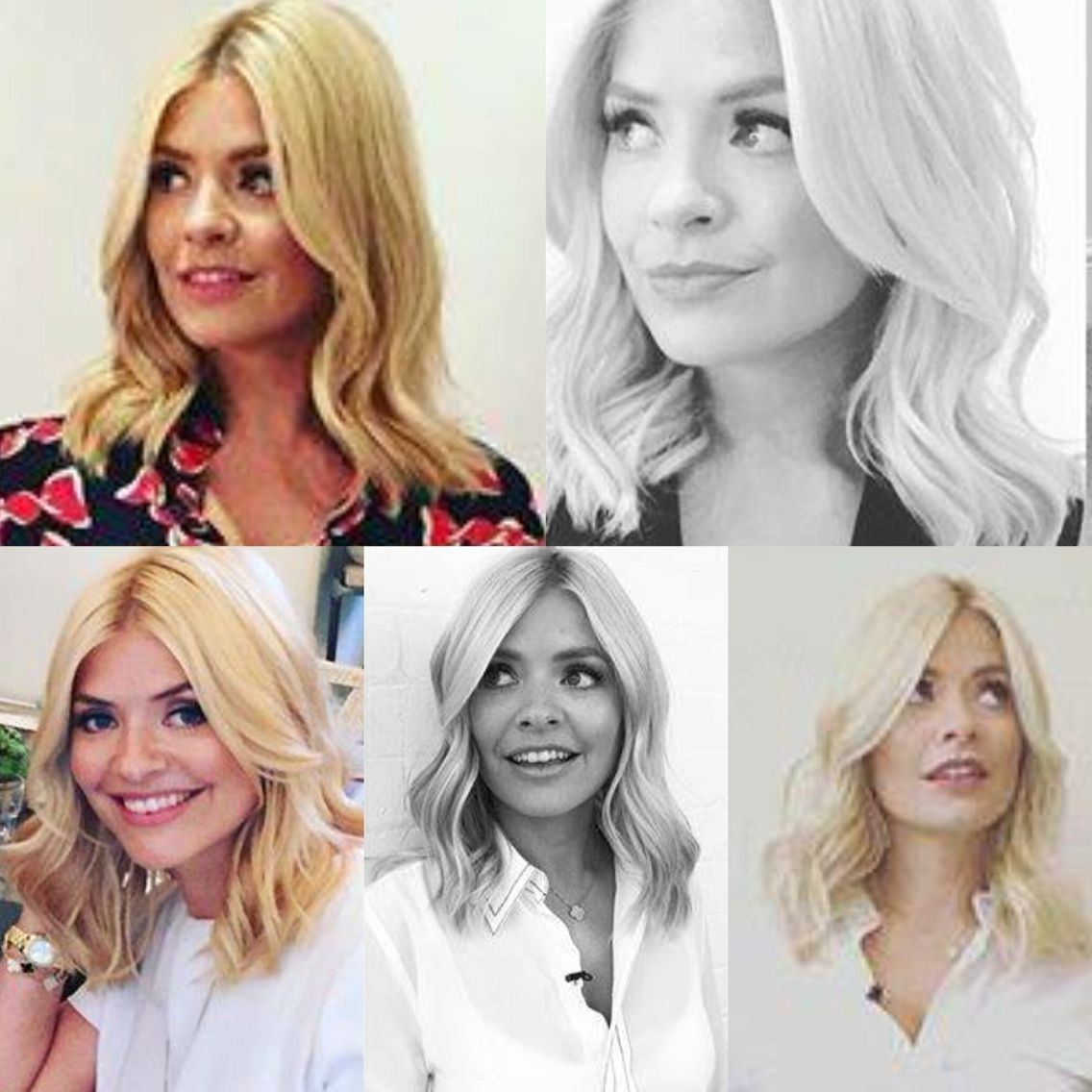 Well Known Glamorous Mid Length Blonde Bombshell Regarding Holly Willoughby New Hair Style. Mid Length Blonde Waves (View 5 of 20)