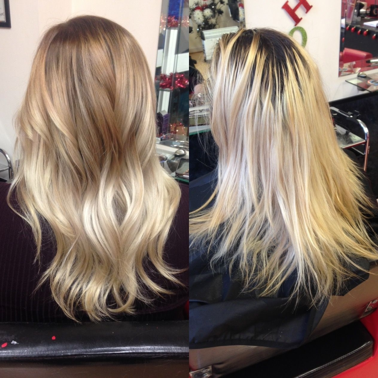 Well Known Grown Out Balayage Blonde Hairstyles In Incredible Before And After Of This Hair Transformation From Grown (View 3 of 20)