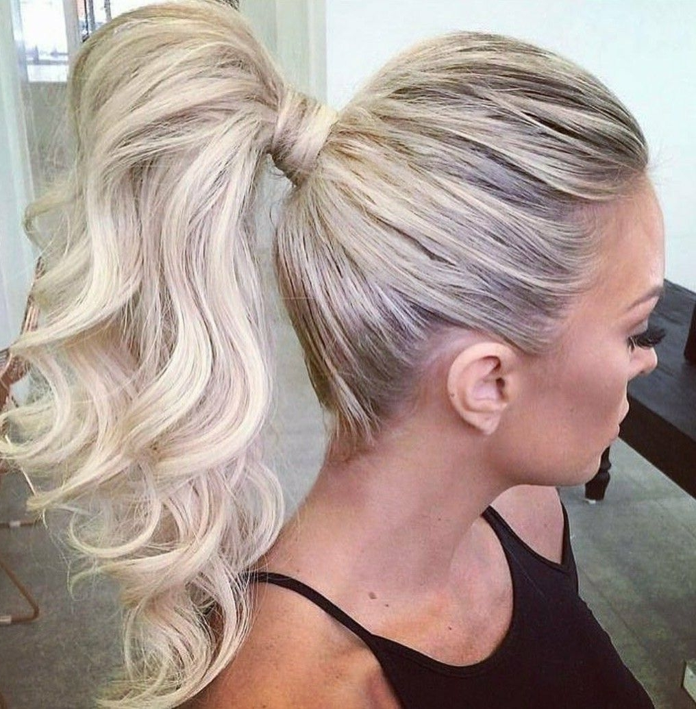Well Known Long Blond Ponytail Hairstyles With Bump And Sparkling Clip With Regard To Sexy Ponytail #extensions #thickhair (View 17 of 20)