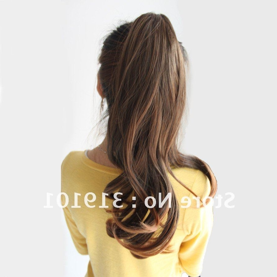 Well Known Long Brown Hairstyles With High Ponytail With Free Shipping High Quality Synthetic Hair Extension/ladies' Curl (View 18 of 20)