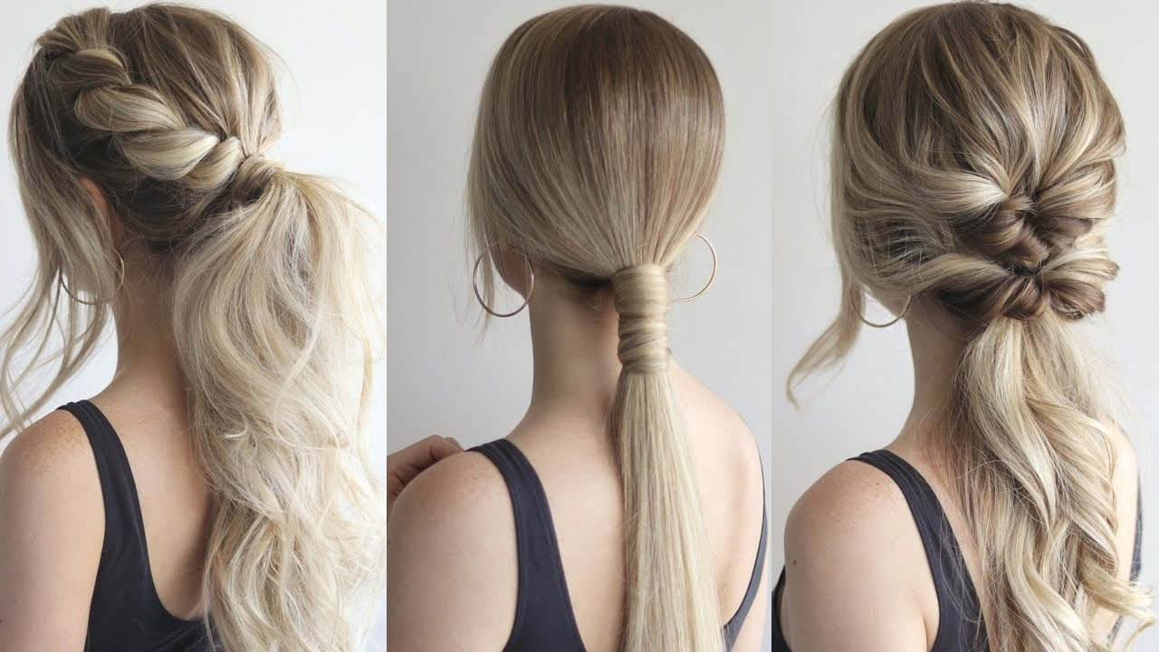 Well Known Perfectly Undone Half Braid Ponytail Inside How To: Easy Ponytails (View 7 of 20)