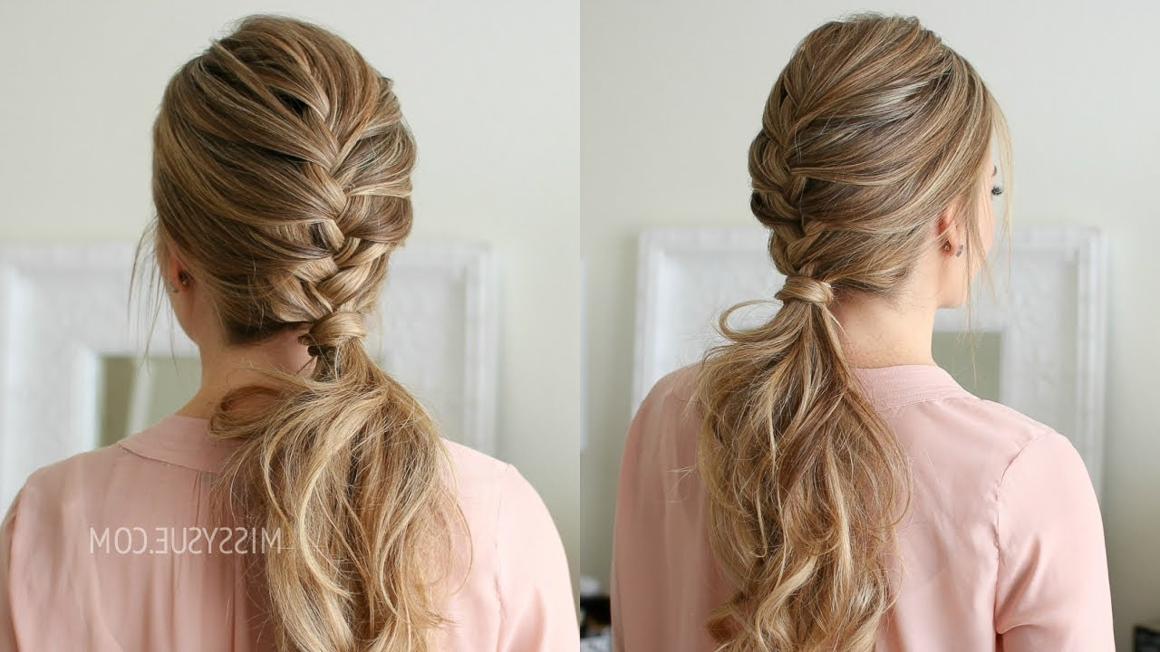 Well Known Perfectly Undone Half Braid Ponytail With French Braid Ponytail (View 12 of 20)