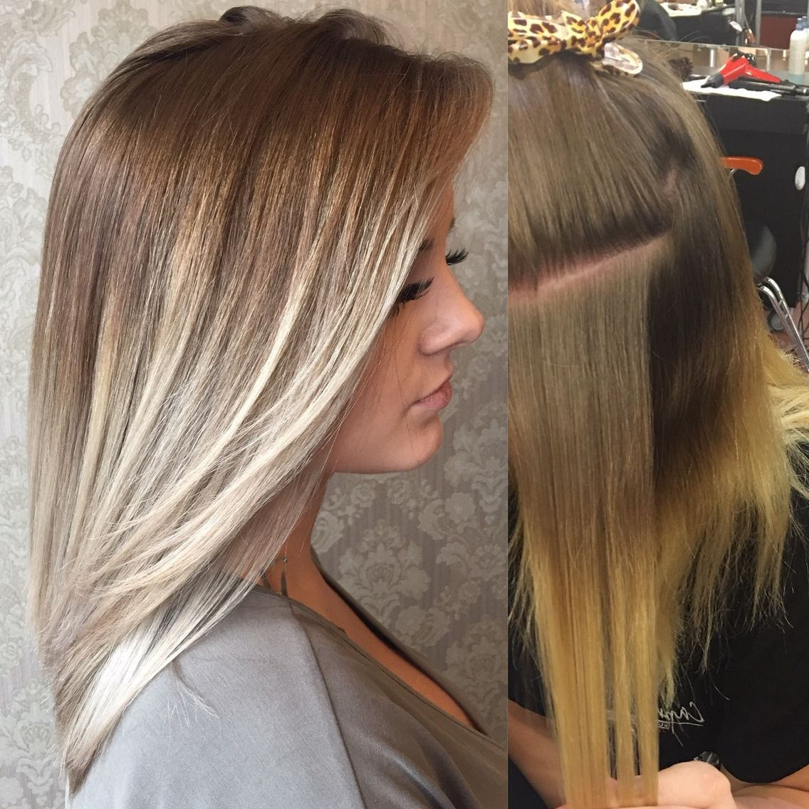 Well Known Platinum Blonde Hairstyles With Darkening At The Roots In Before After Ash Blonde, Light Blonde, Dark Roots, Platinum Blonde (View 4 of 20)