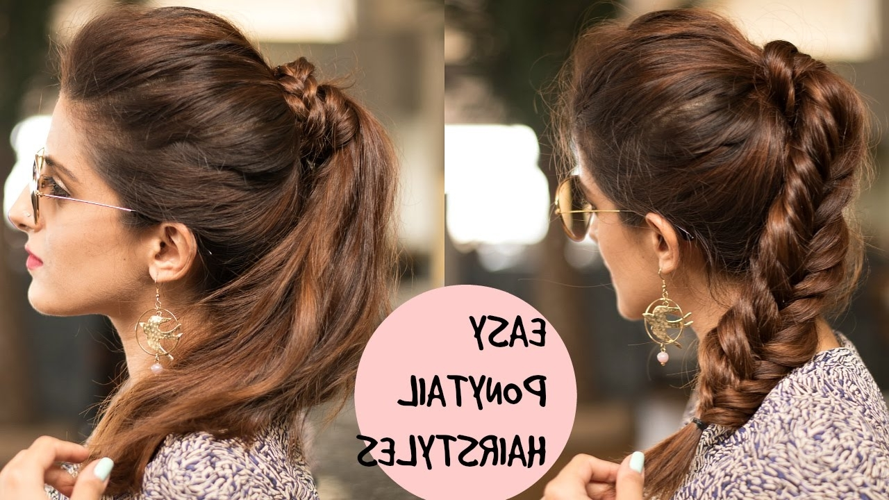 Well Known Ponytail Hairstyles For Layered Hair With Regard To Easy Braided Ponytail Hairstyles For College, School,work (View 3 of 20)