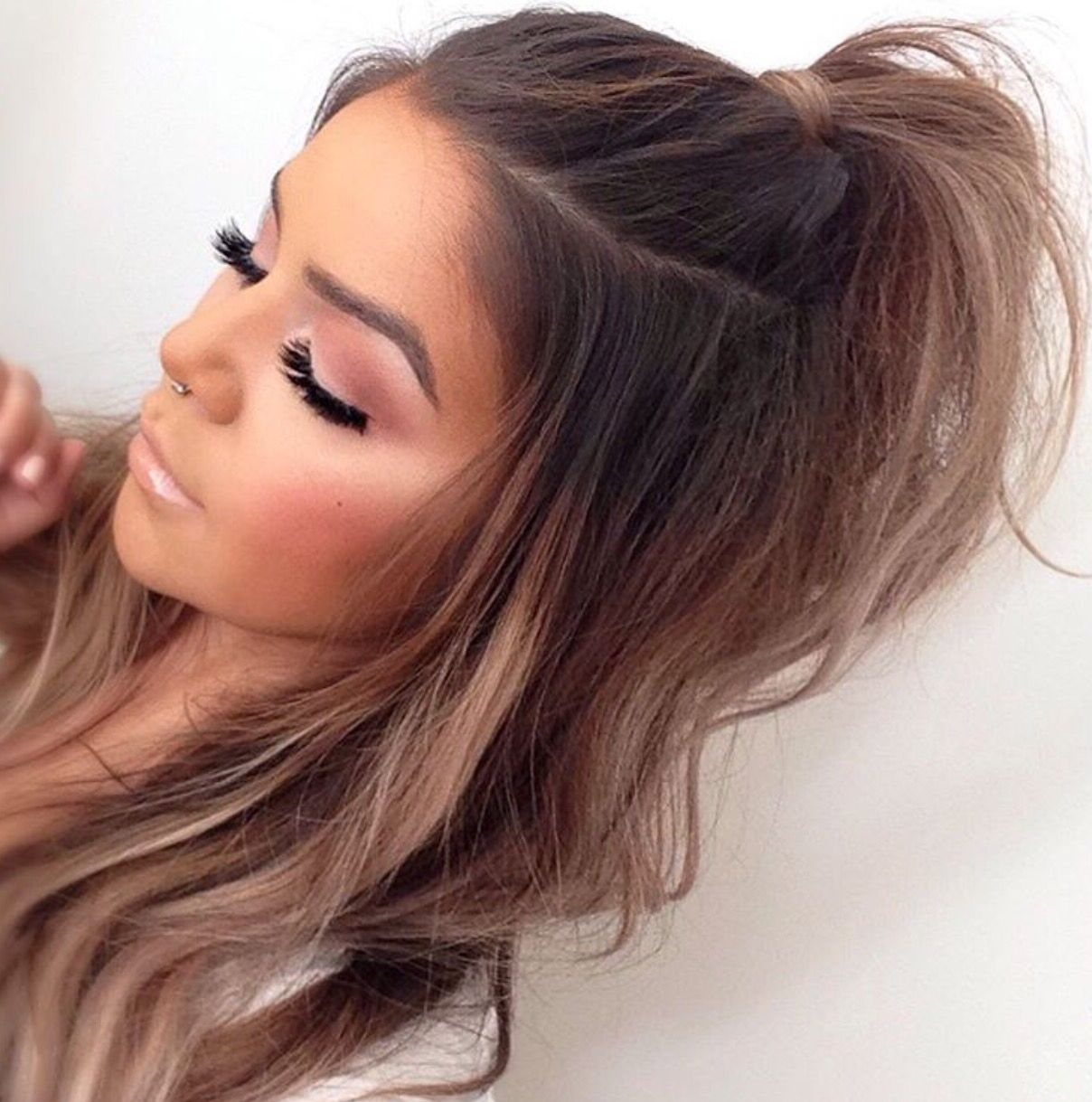 Well Known Soft Half Up Ponytail Hairstyles Regarding Half Up Half Down Hair With Soft Beach Waves (View 20 of 20)