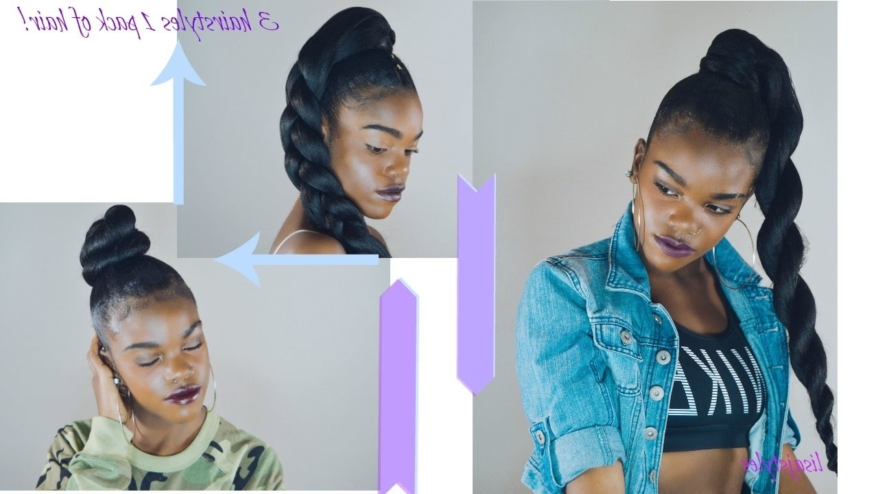 Well Known Three Braids To One Ponytail Hairstyles With Regard To How To (View 18 of 20)