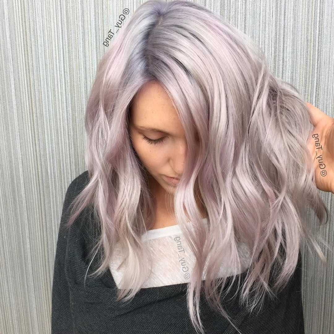 Well Known Voluminous Platinum And Purple Curls Blonde Hairstyles For Pinguy Tang® Hair Artist On Balayage Ombre Collection (View 20 of 20)