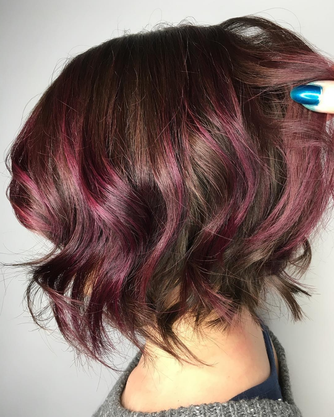 Well Known Voluminous Platinum And Purple Curls Blonde Hairstyles Regarding 38 Super Cute Ways To Curl Your Bob – Popular Haircuts For Women  (View 19 of 20)