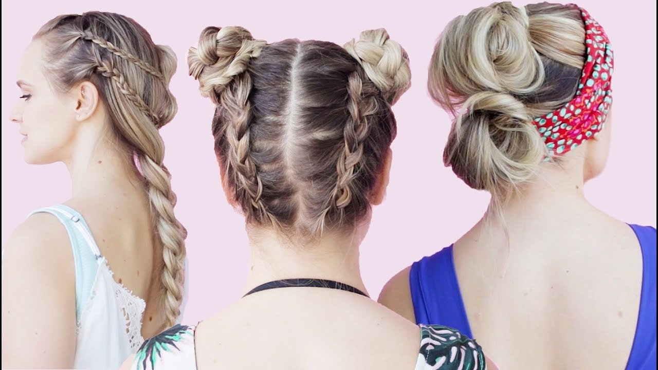 Well Liked Beachy Braids Hairstyles For Easy Beach Hairstyles Tutorial – Kayleymelissa – Youtube (View 18 of 20)