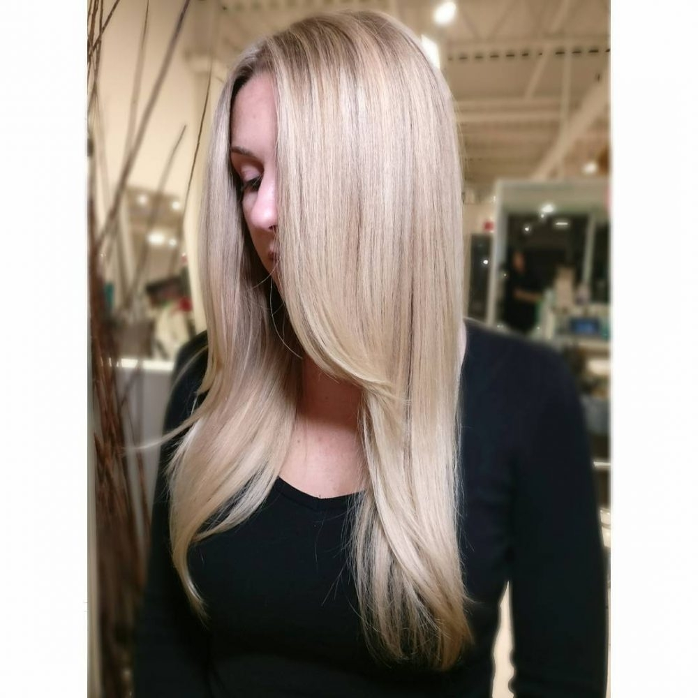 Well Liked Bi Color Blonde With Bangs Intended For 35 Best Long Hair With Bangs For Women In  (View 20 of 20)