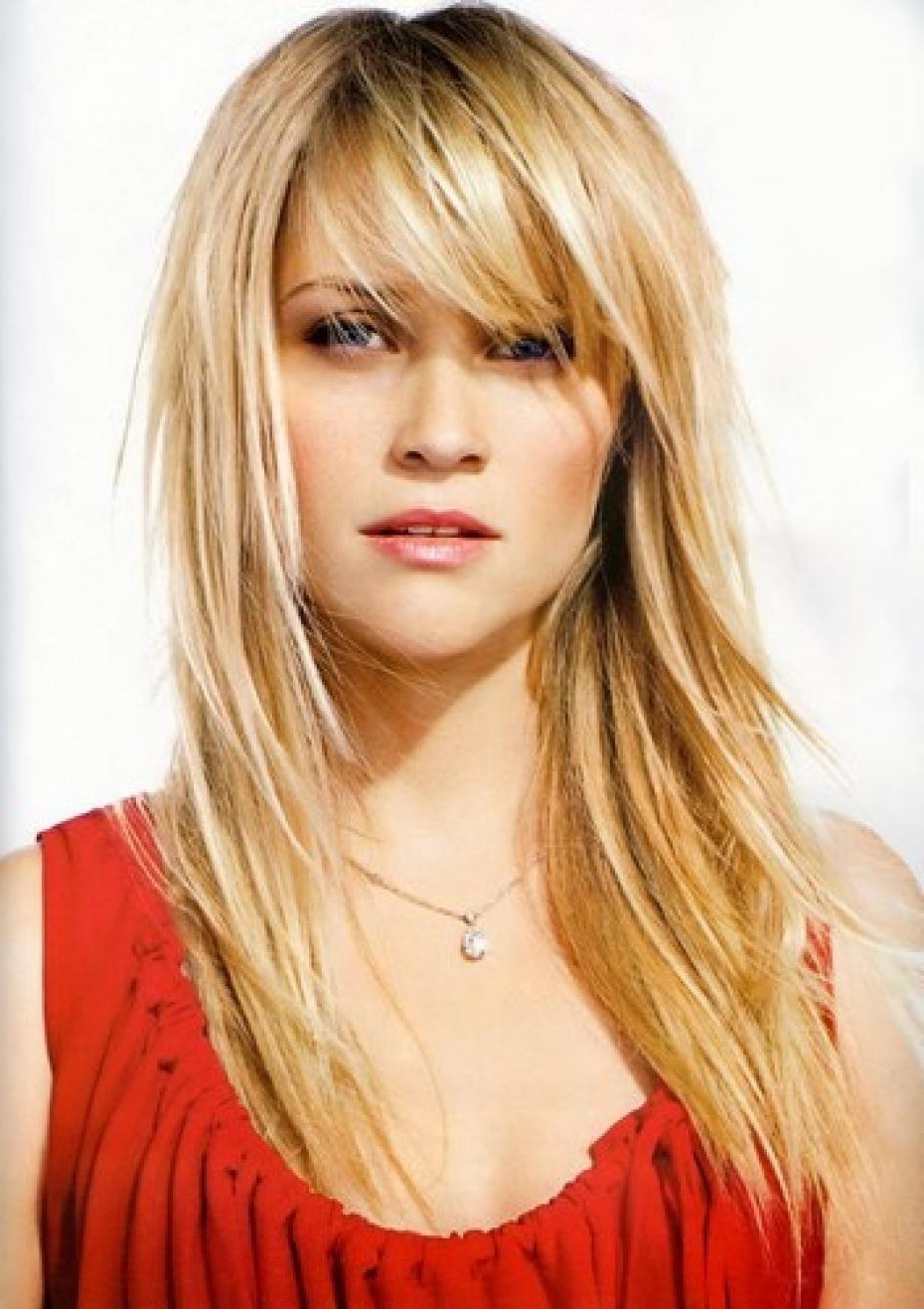 Well Liked Blonde Lob Hairstyles With Sweeping Bangs Within Long Hairstyles With Bangs Best Haircuts For Bangs Side Swept Bangs (View 19 of 20)