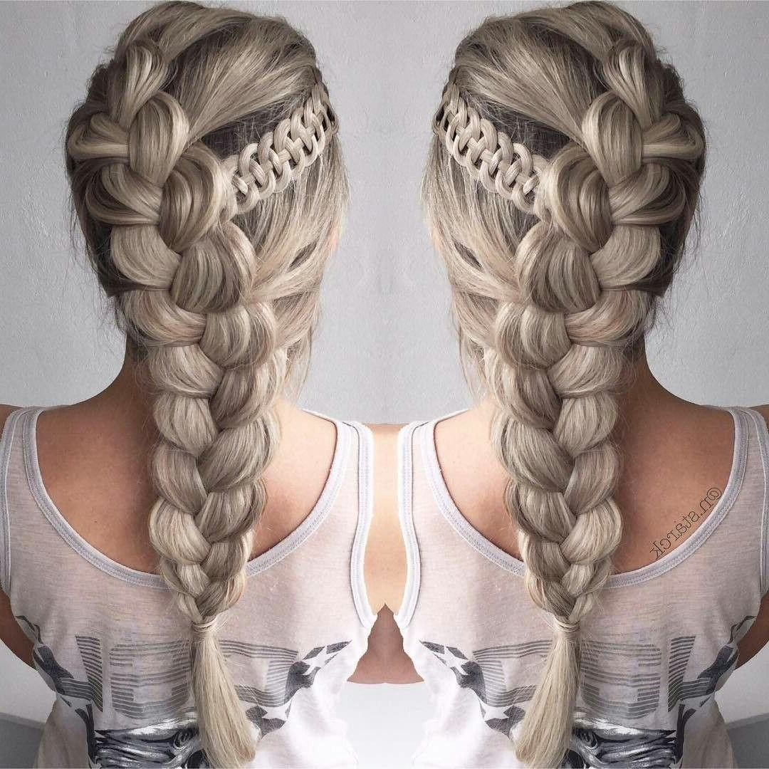 Well Liked Brunette Macrame Braid Hairstyles Pertaining To Pincontemporary Braids On French Braid Styles (View 19 of 20)