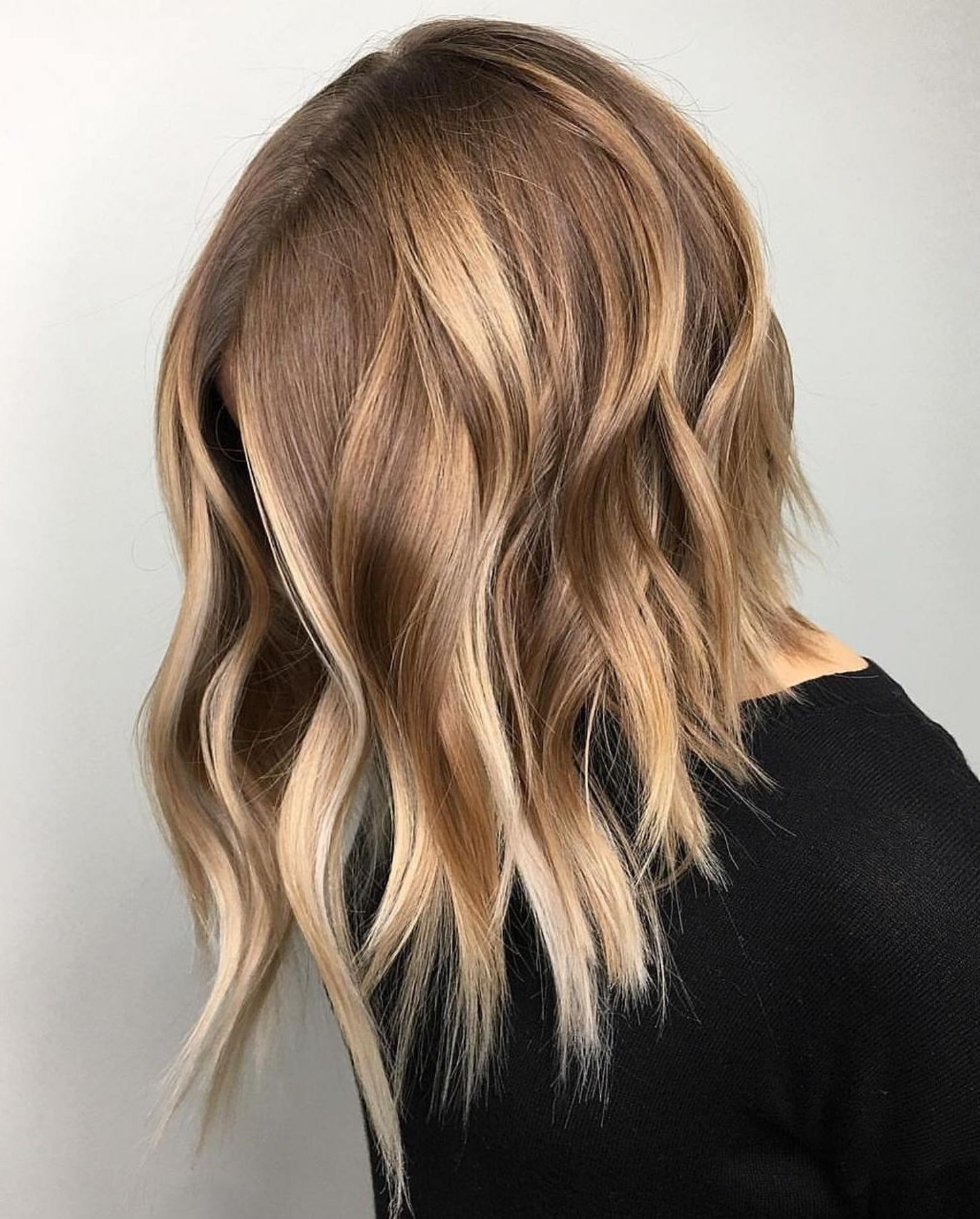 Well Liked Caramel Blonde Lob With Bangs With Regard To 70 Best A Line Bob Hairstyles Screaming With Class And Style (View 7 of 20)