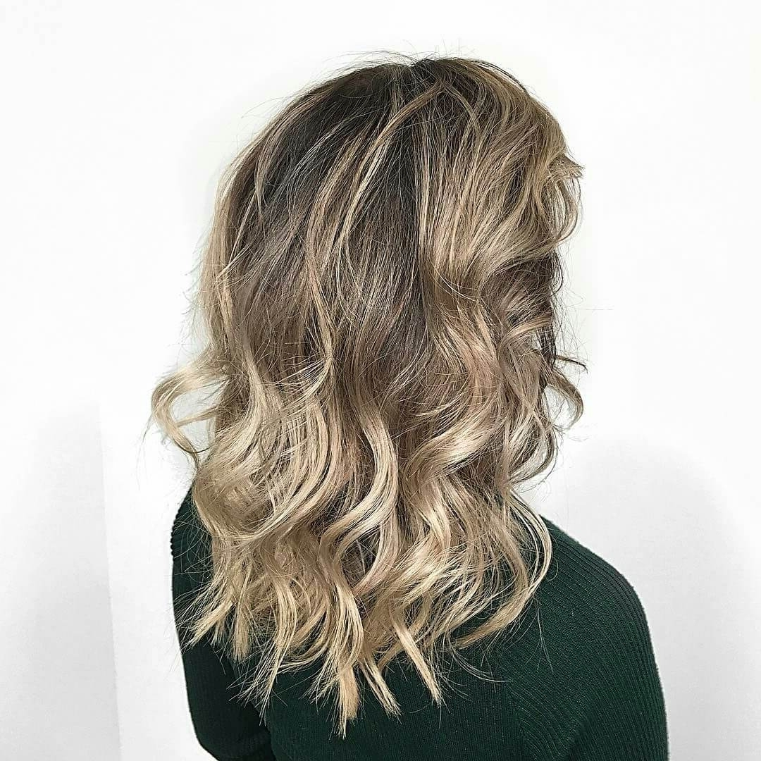 Well Liked Contrasting Highlights Blonde Hairstyles Regarding Medium Layered Haircuts 2018: Medium Length Hairstyles With Layers (View 20 of 20)