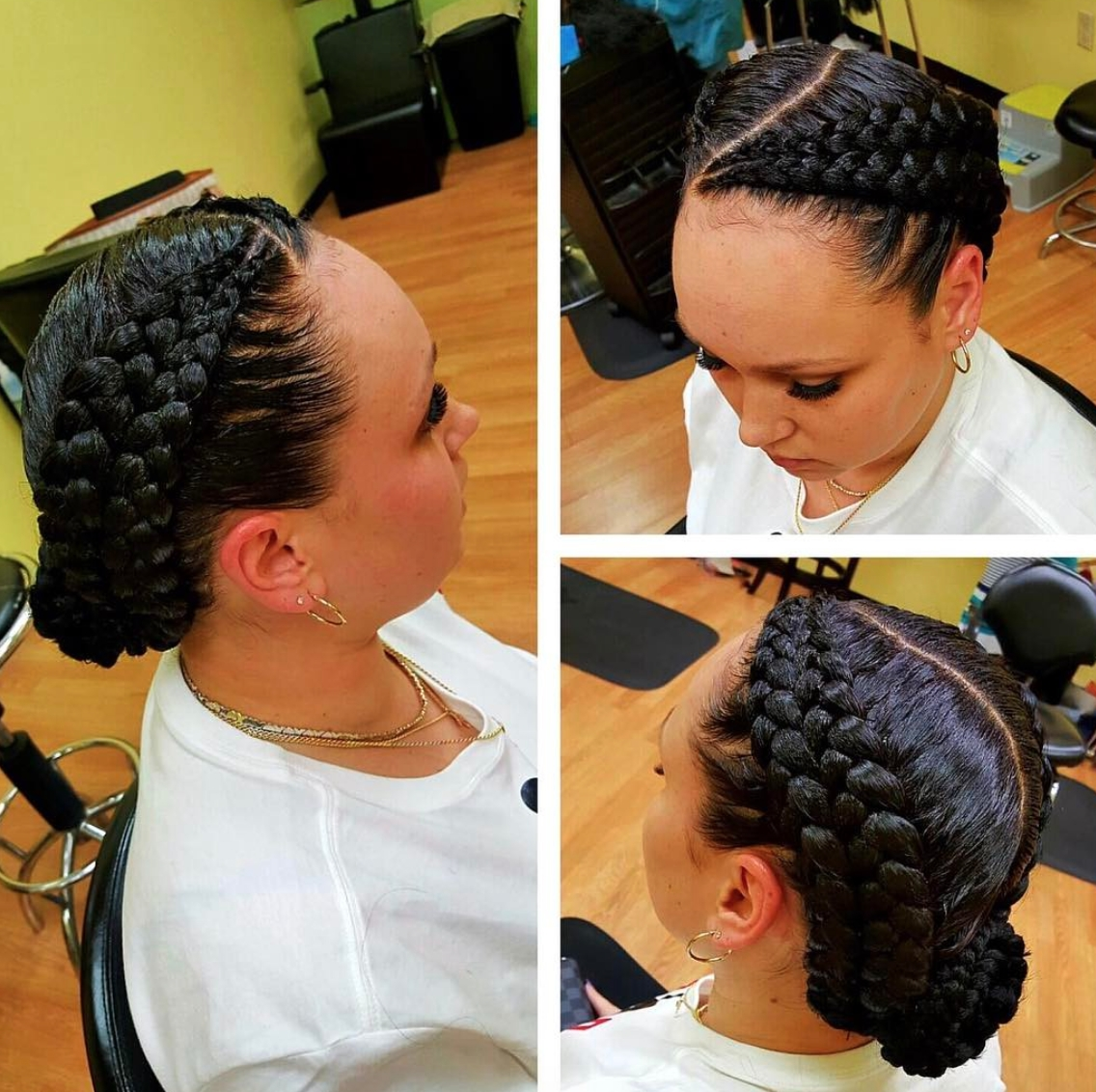 Well Liked Double Braided Hairstyles Intended For Pinblack Hair Information – Coils Media Ltd On Braids And Twists (View 7 of 20)