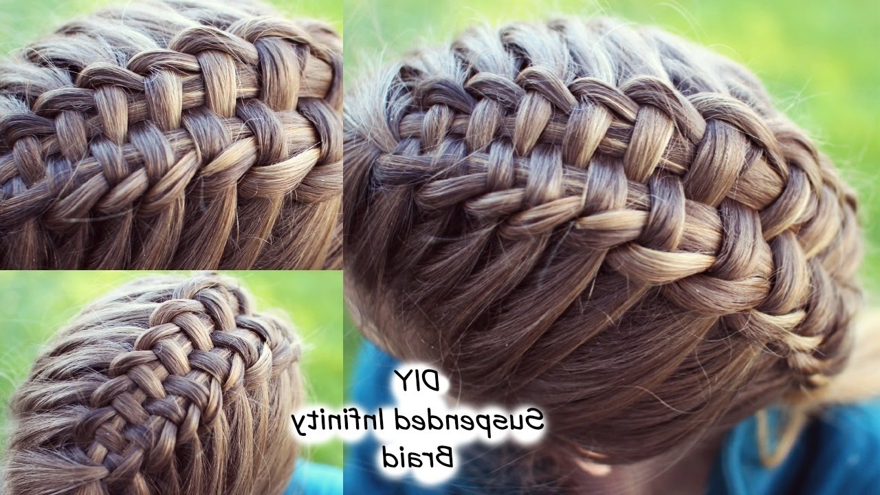 Well Liked Double Floating Braid Hairstyles In How To : Suspended Infinity Braid On Yourself (View 20 of 20)