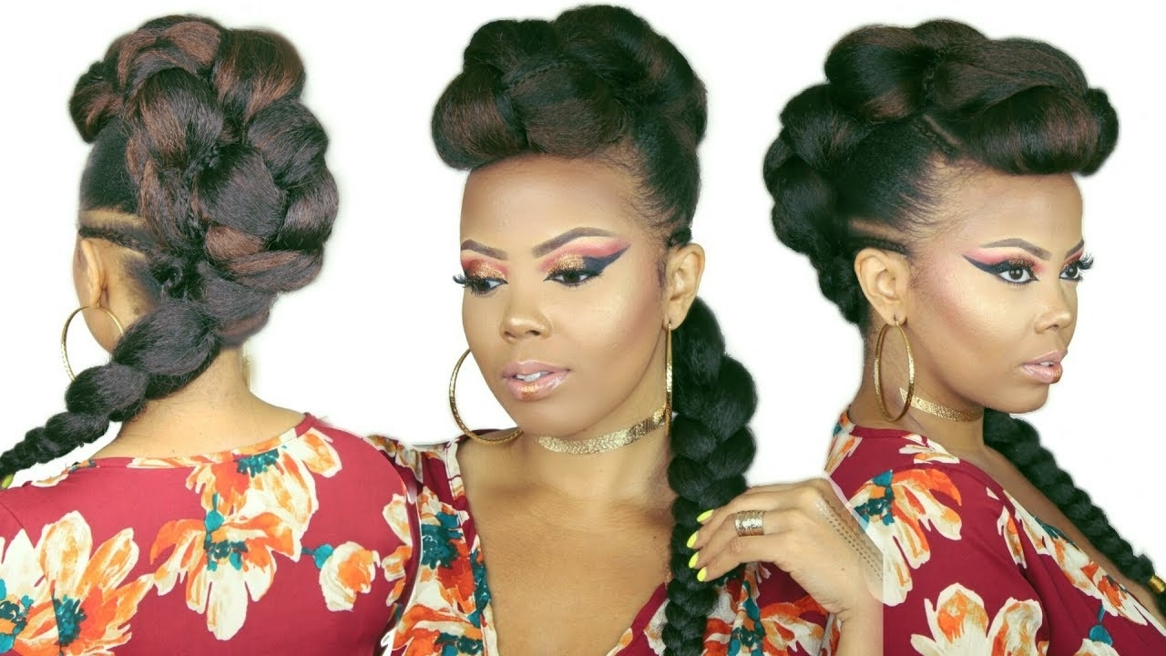 Well Liked Fierce Faux Mohawk Hairstyles Within ?faux Braided Mohawk (View 7 of 20)