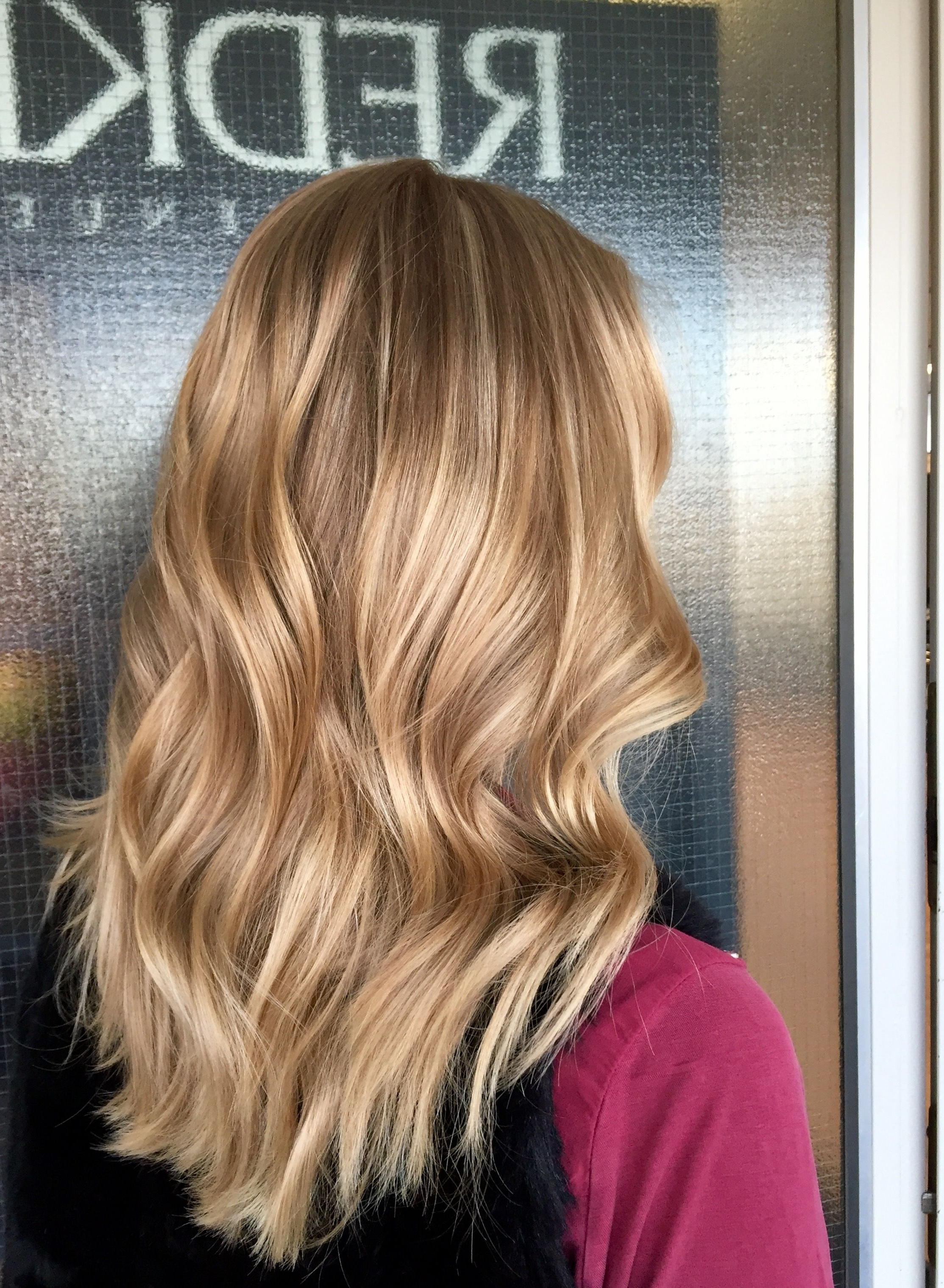 Well Liked Golden Blonde Balayage Hairstyles In Balayaged & Highlighted Caramel Blonde Long Hair #balayage (View 20 of 20)