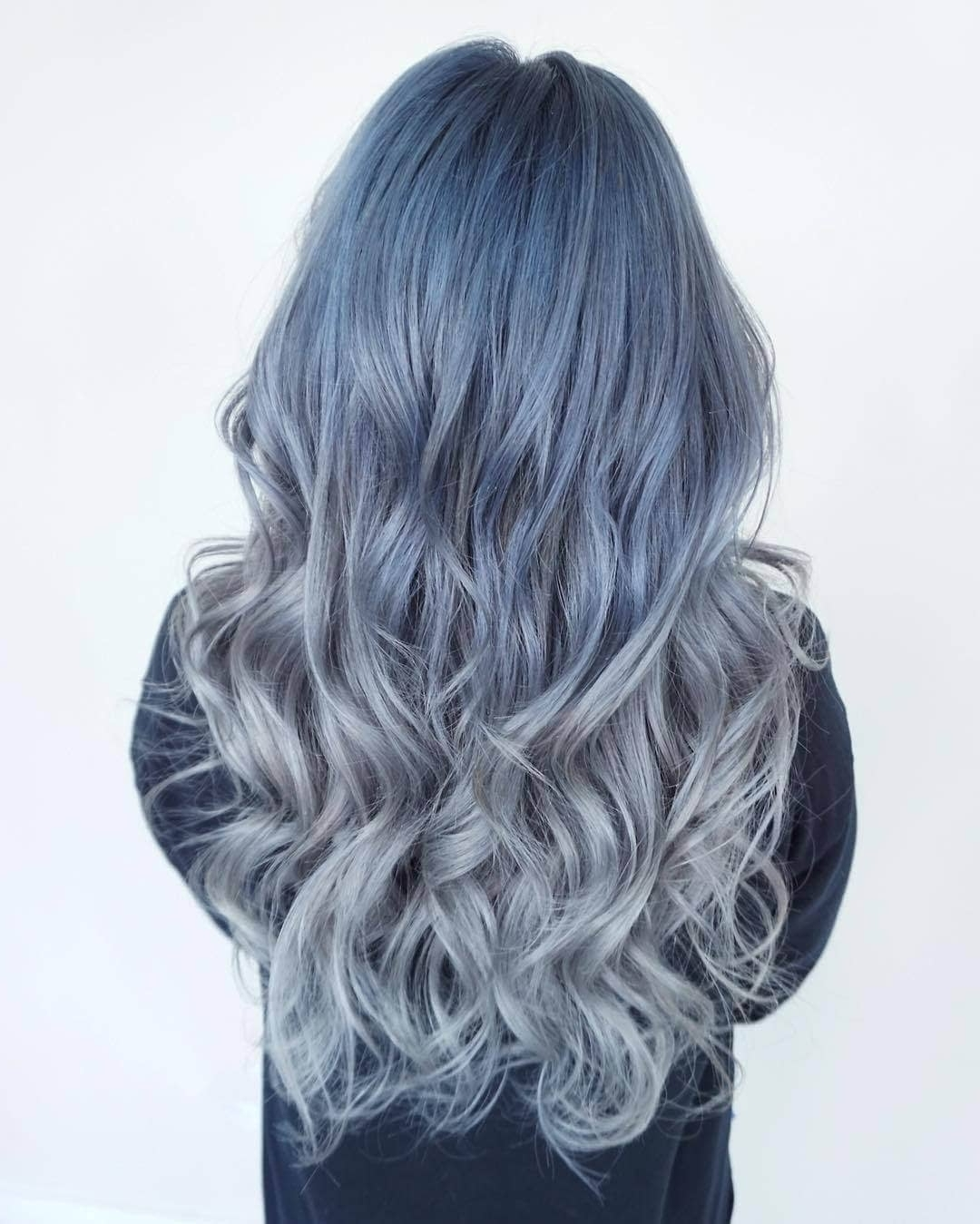 Well Liked Grayscale Ombre Blonde Hairstyles For 50 Fun Blue Hair Ideas To Become More Adventurous In (View 14 of 20)