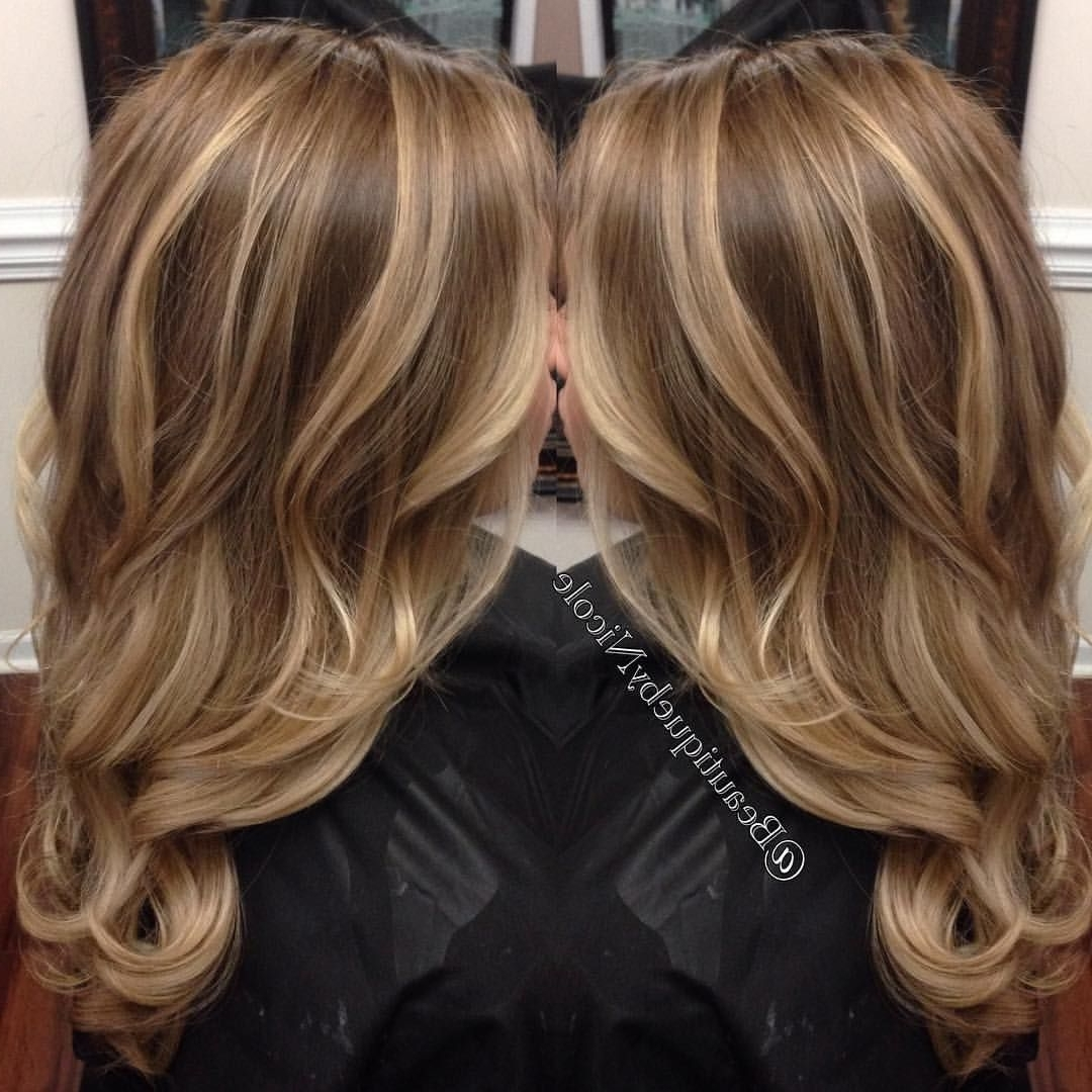 Well Liked Grown Out Balayage Blonde Hairstyles Intended For Balayage On Long Hair/ Blonde Highlights With Curled Hairstyle (View 5 of 20)
