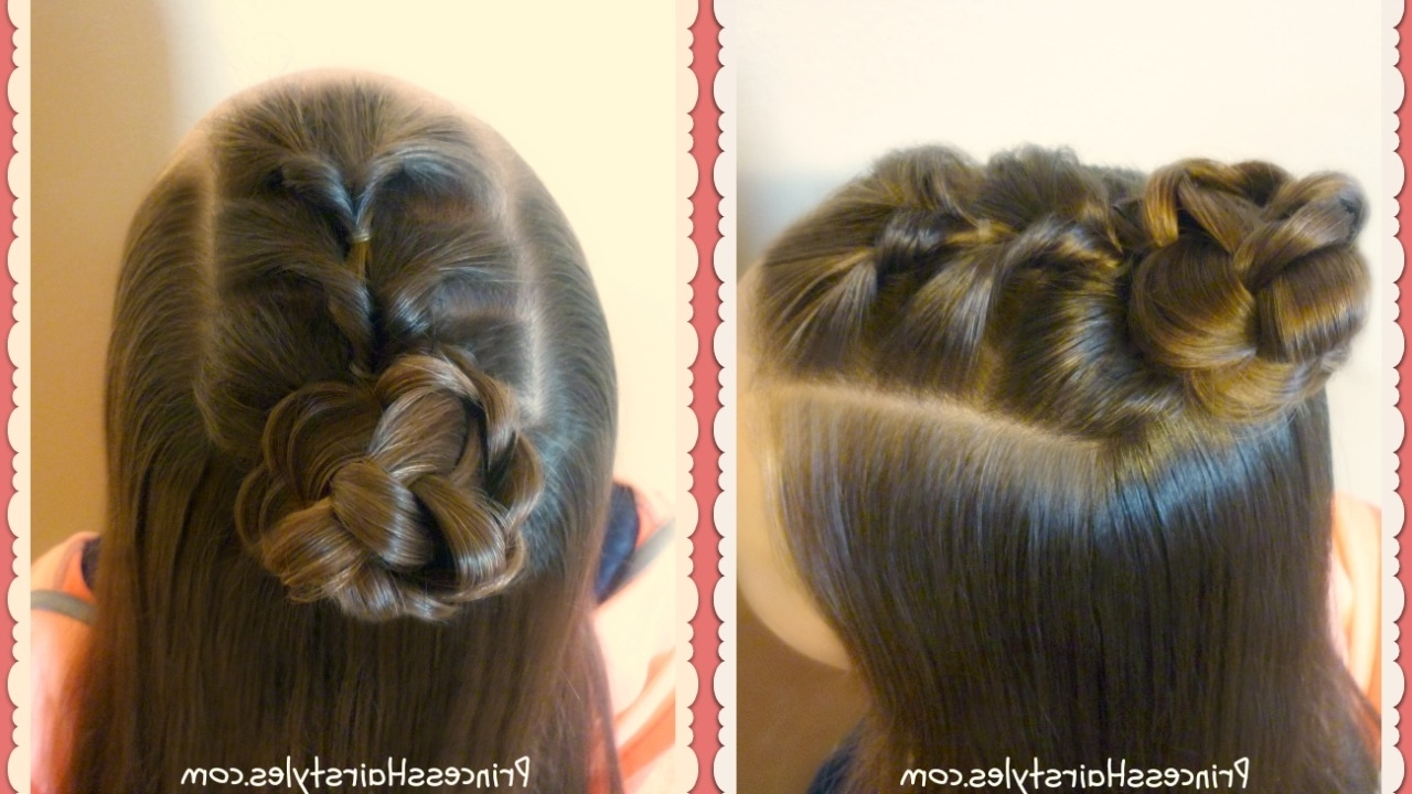 Well Liked Half French Braid Ponytail Hairstyles Regarding 3 More Cute Half Up Bun Hairstyle Tutorials – Hairstyles For Girls (View 20 of 20)