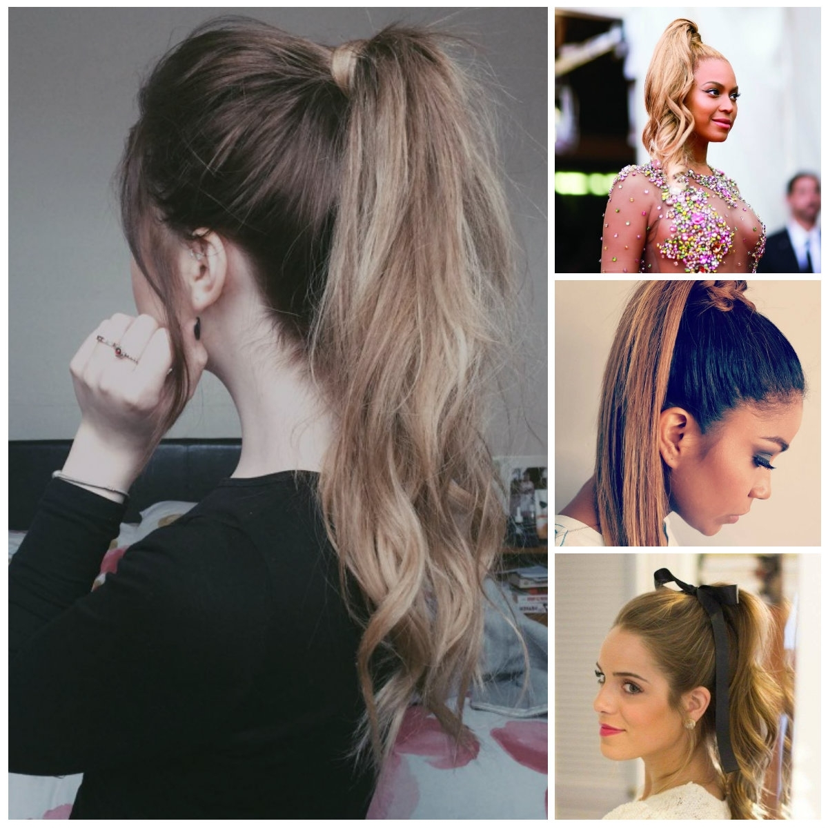 Well Liked High Pony Hairstyles With Contrasting Bangs Within Hairstyles With Bangs (View 19 of 20)