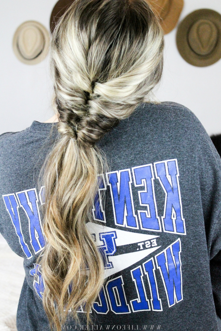 Well Liked Honey Blonde Fishtail Look Ponytail Hairstyles Pertaining To This Faux Fishtail Ponytail Is Amazing Because It Gives The Same (View 20 of 20)