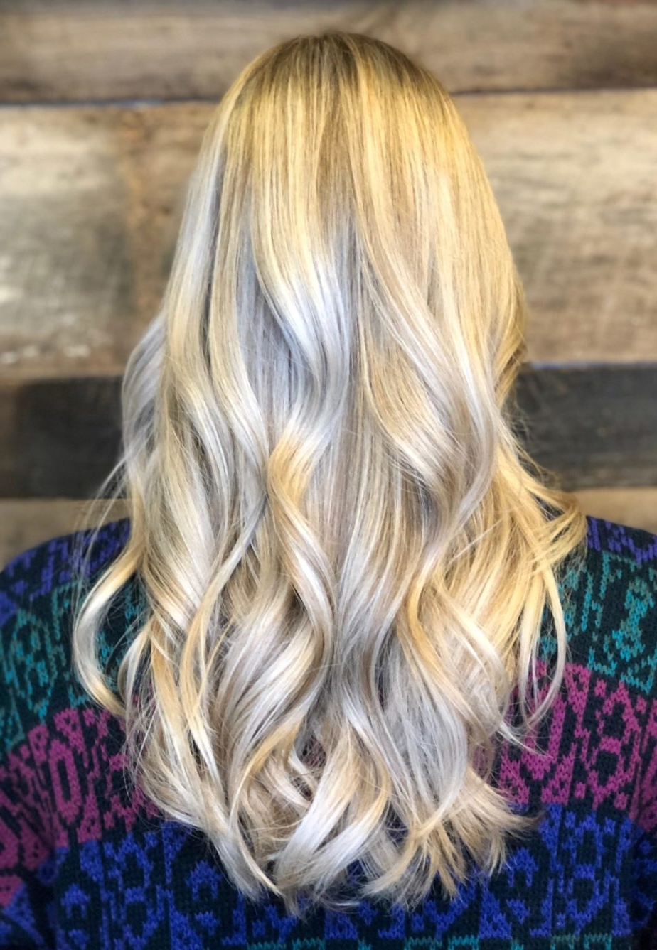 Well Liked Icy Highlights And Loose Curls Blonde Hairstyles Intended For Raleigh Hair Salon Best Reviews Icy Platinum Blonde Hair Color Long (View 17 of 20)
