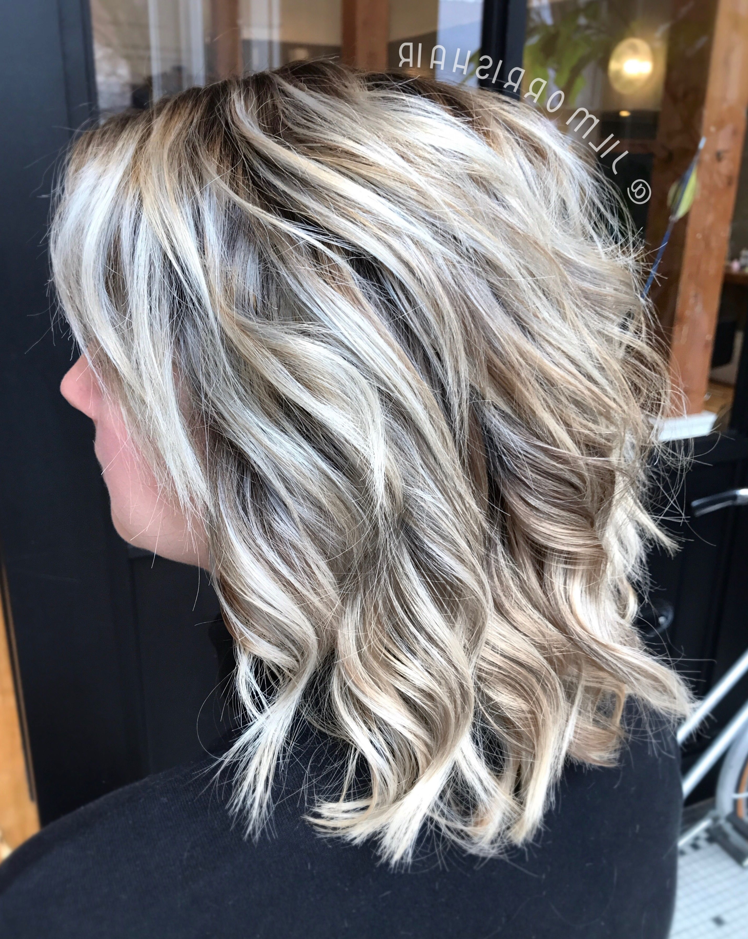 Well Liked Long Bob Blonde Hairstyles With Lowlights With Regard To Icy White Balayage Blonde Highlights With An Ashy Shadow Root (Gallery 3 of 20)