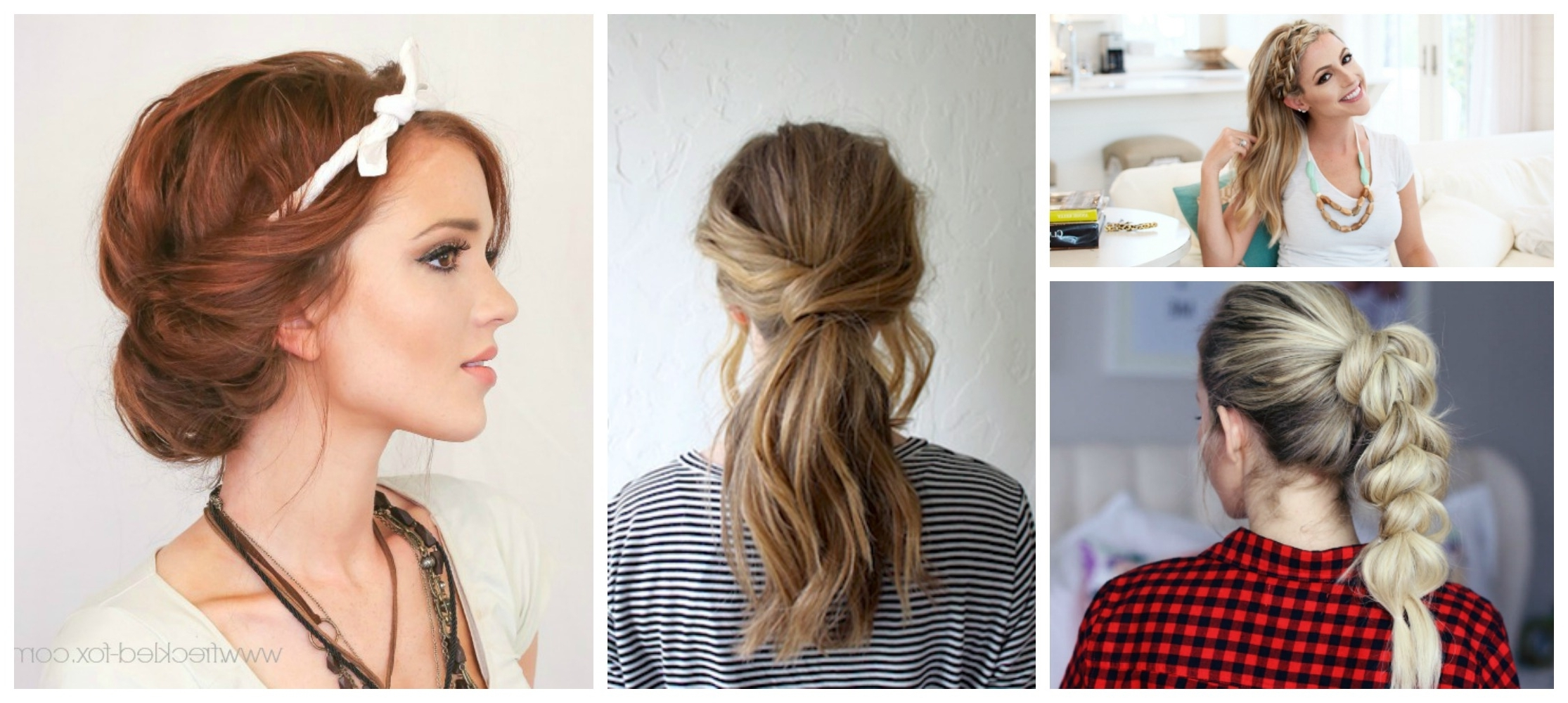 Well Liked Polished Upbraid Hairstyles Regarding 8 Quick & Easy Hairstyles That Make Dirty Hair Look Fab! – Diy Thought (View 10 of 20)