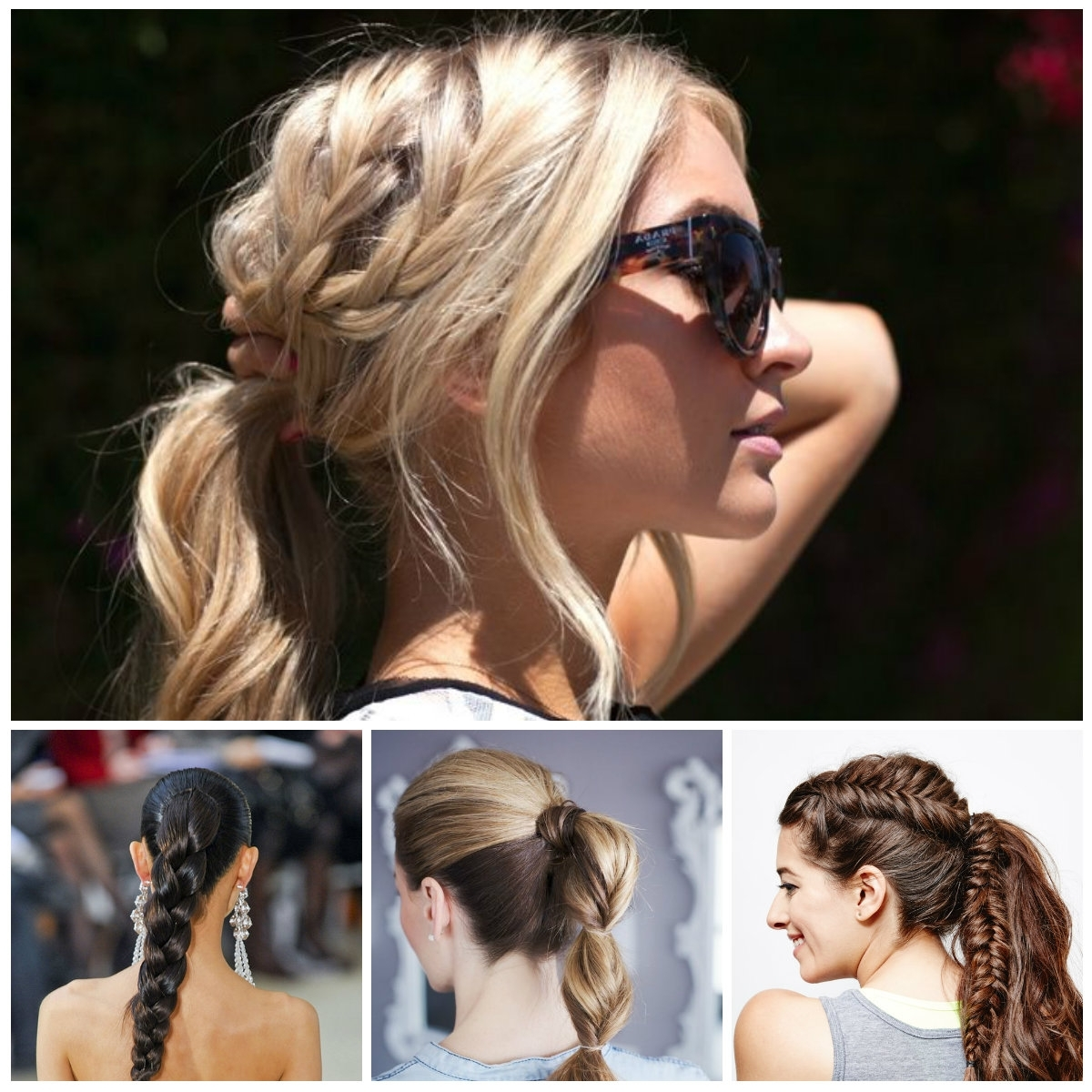 Well Liked Pony Hairstyles With Textured Braid For Braided Ponytail Hairstyle Trends 2017 – New Hairstyles 2017 For (View 19 of 20)