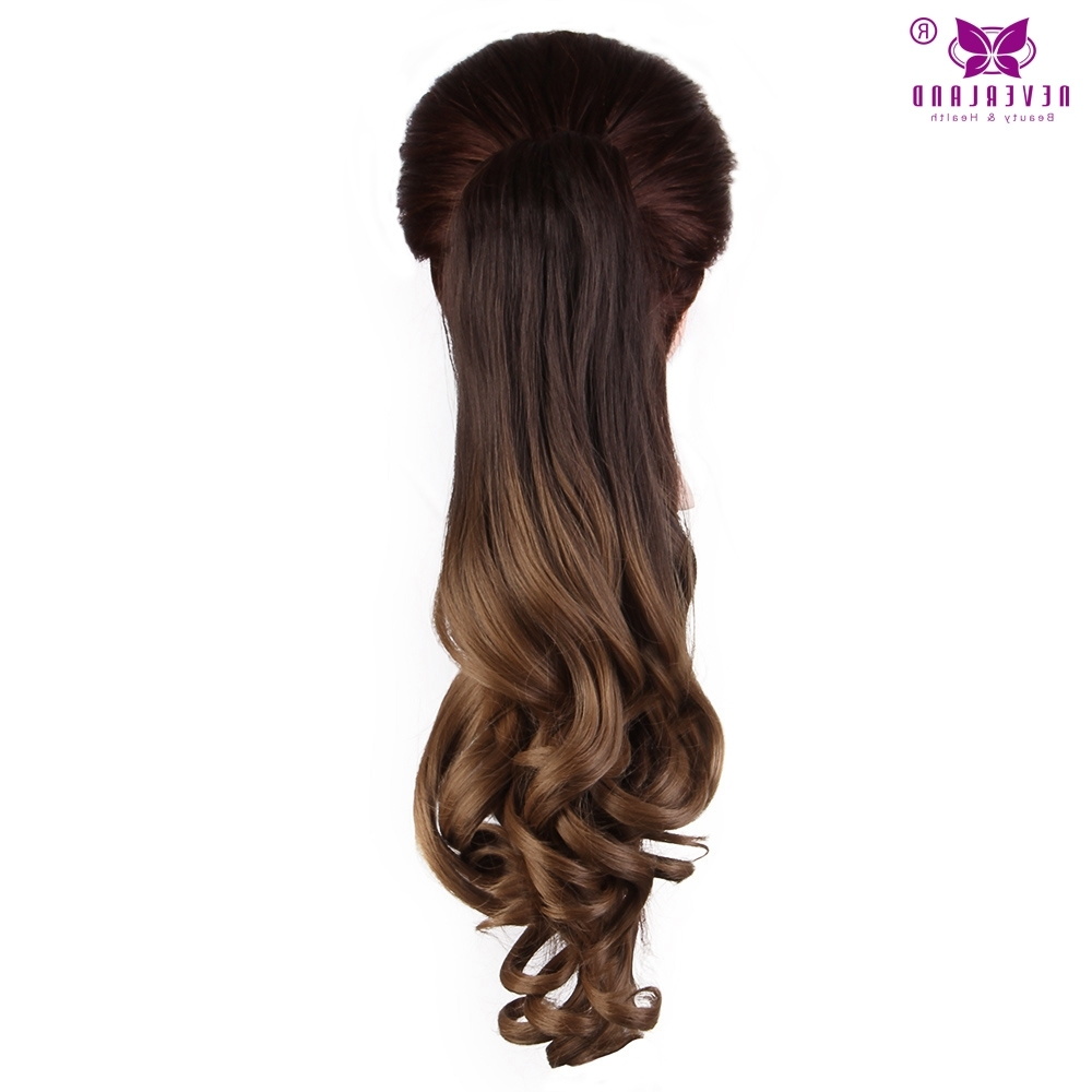 "Well Liked Ponytail Hairstyles With Wild Wavy Ombre Throughout Aimei 20"" 50cm Synthetic Wavy Claw Clip In Ponytail Hair Extension (View 18 of 20)"