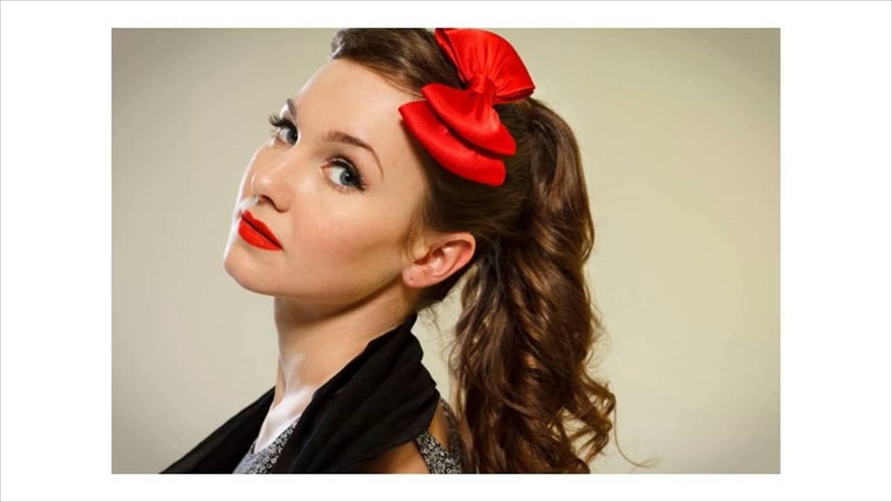 Well Liked Retro Glam Ponytail Hairstyles For The 1950's Inspired Ponytail – Youtube (View 20 of 20)