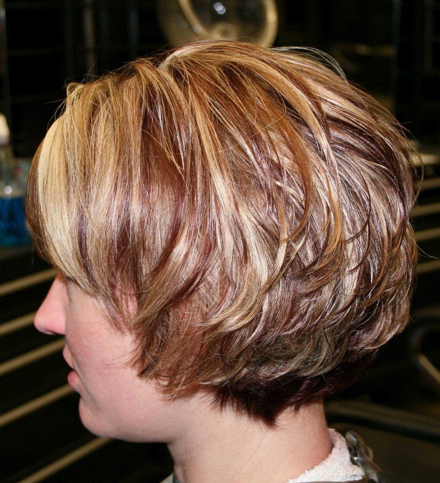 Well Liked Trendy Angled Blonde Haircuts Throughout Trendy Copper And Blonde Highlights Angled Bob Blonde On Top (View 19 of 20)