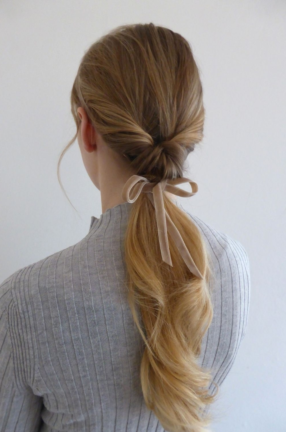 Why Not Match Your Hair To Your Ribbon? This Low Twisted Pony Tail In Latest Twisted Pony Hairstyles (View 19 of 20)