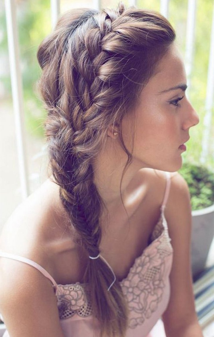 Widely Used Braided Along The Way Hairstyles Pertaining To 10 Easy Summer Braids (View 20 of 20)