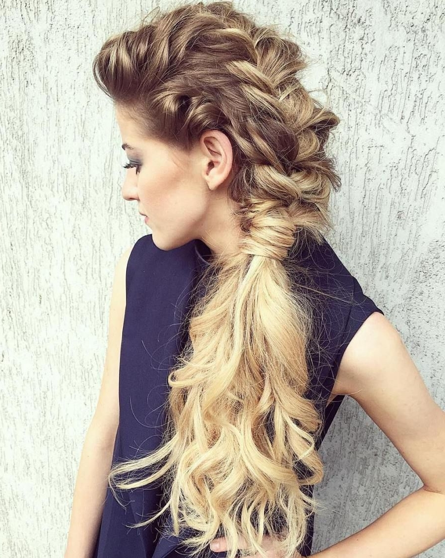Widely Used Brunette Macrame Braid Hairstyles Regarding 45 Side Hairstyles For Prom To Please Any Taste (View 20 of 20)