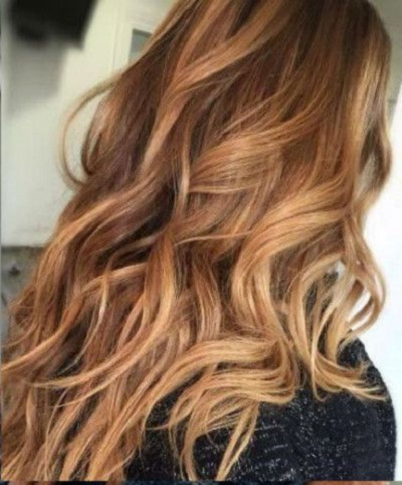 Photo Gallery Of Caramel Blonde Hairstyles Viewing 17 Of 20 Photos