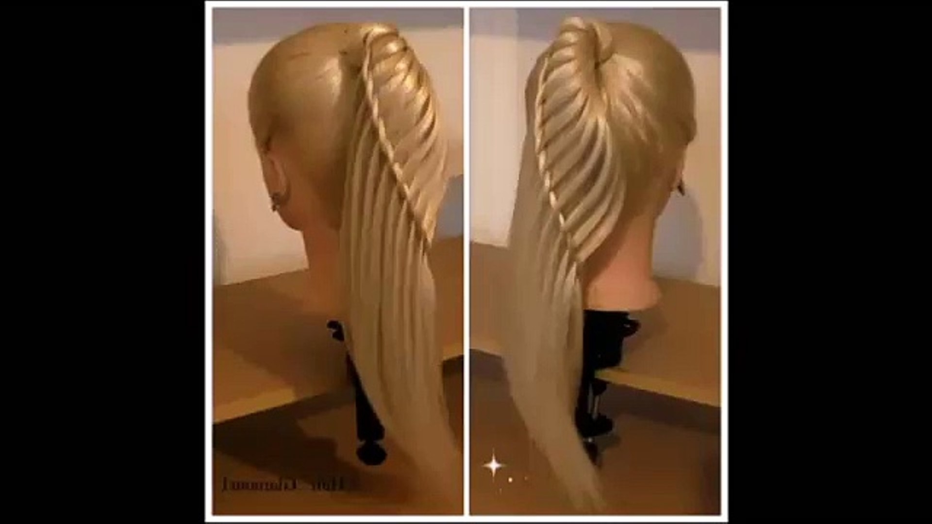Widely Used Cascading Ponytail Hairstyles Regarding Side Waterfall Ponytail–Hair Tutorial–Hairglamour – Video Dailymotion (View 20 of 20)