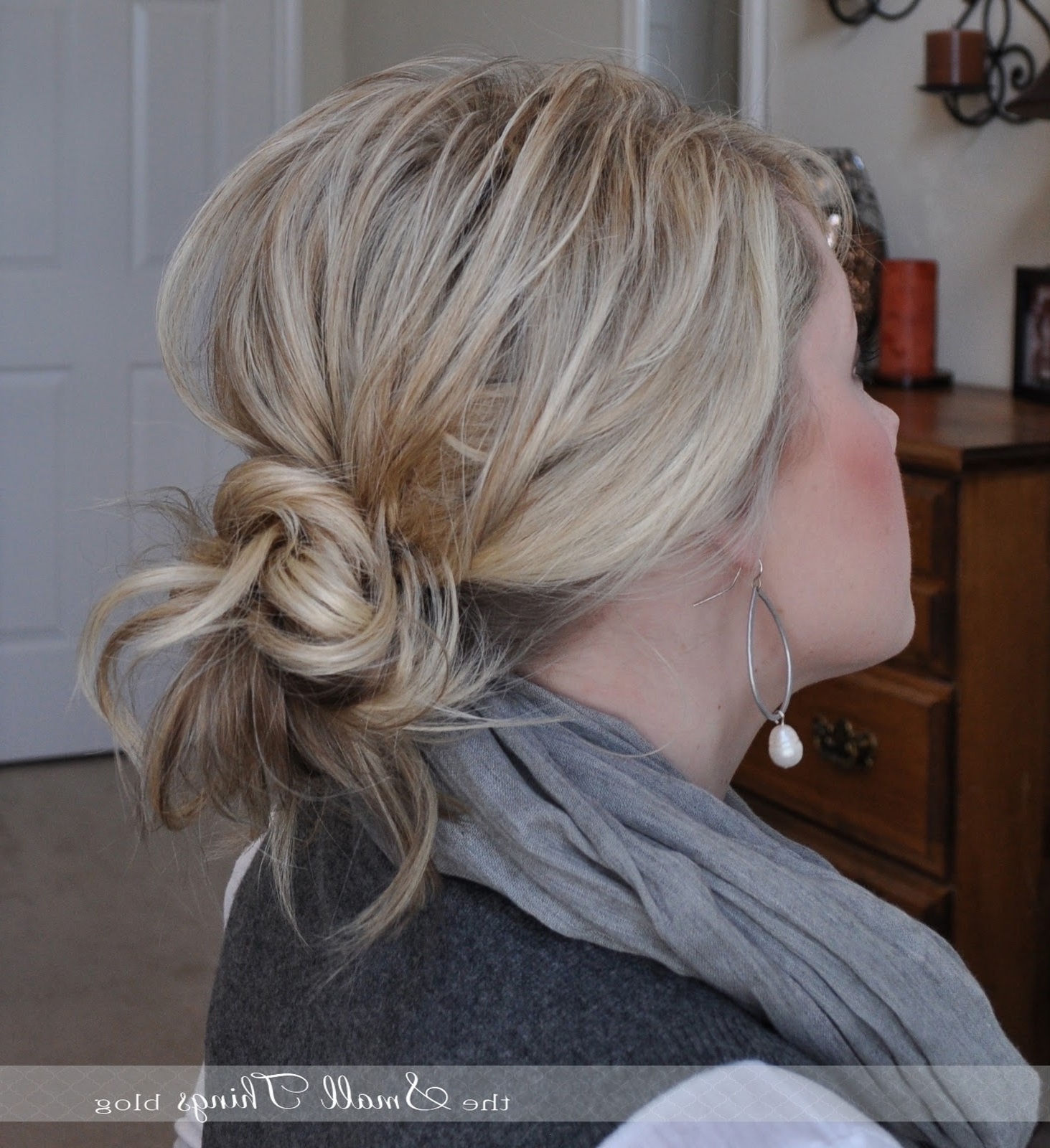 Widely Used Curled Up Messy Ponytail Hairstyles In Messy Ponytail/bun – The Small Things Blog (View 20 of 20)