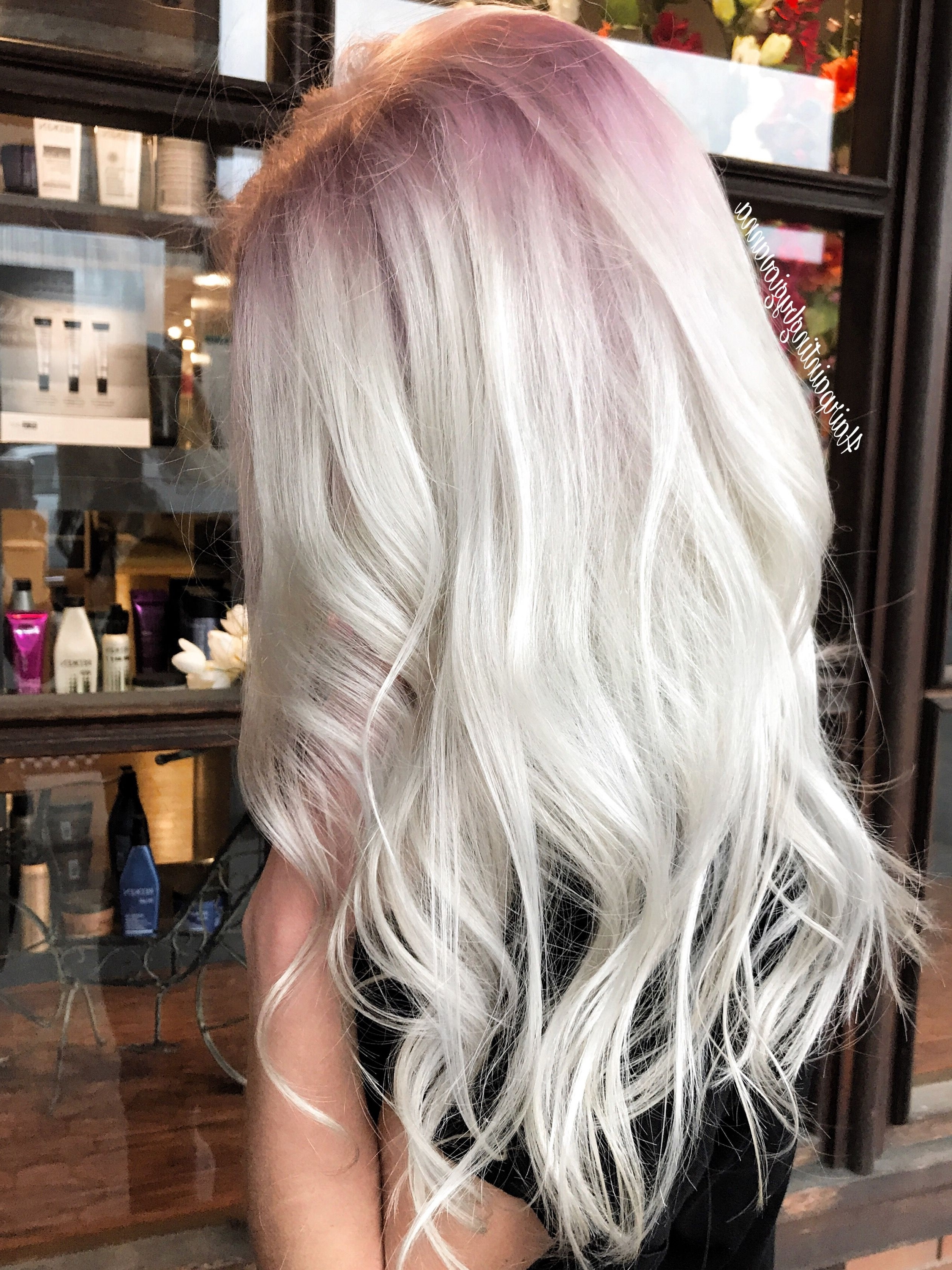 Widely Used Golden And Platinum Blonde Hairstyles Pertaining To Stunning Platinum Hair With A Subtle Rose Gold Shadow Root Using All (View 19 of 20)