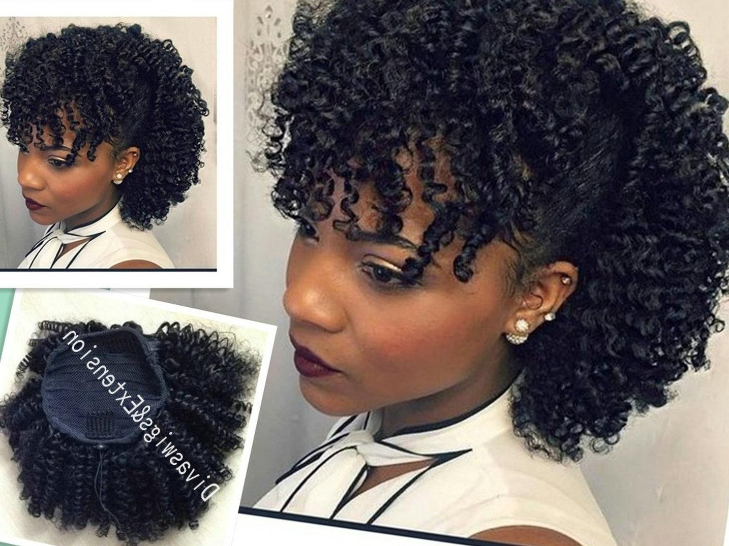 Widely Used Highlighted Afro Curls Ponytail Hairstyles With African American Afro Ponytail Extension Human Hair Ponytails Afro (View 20 of 20)