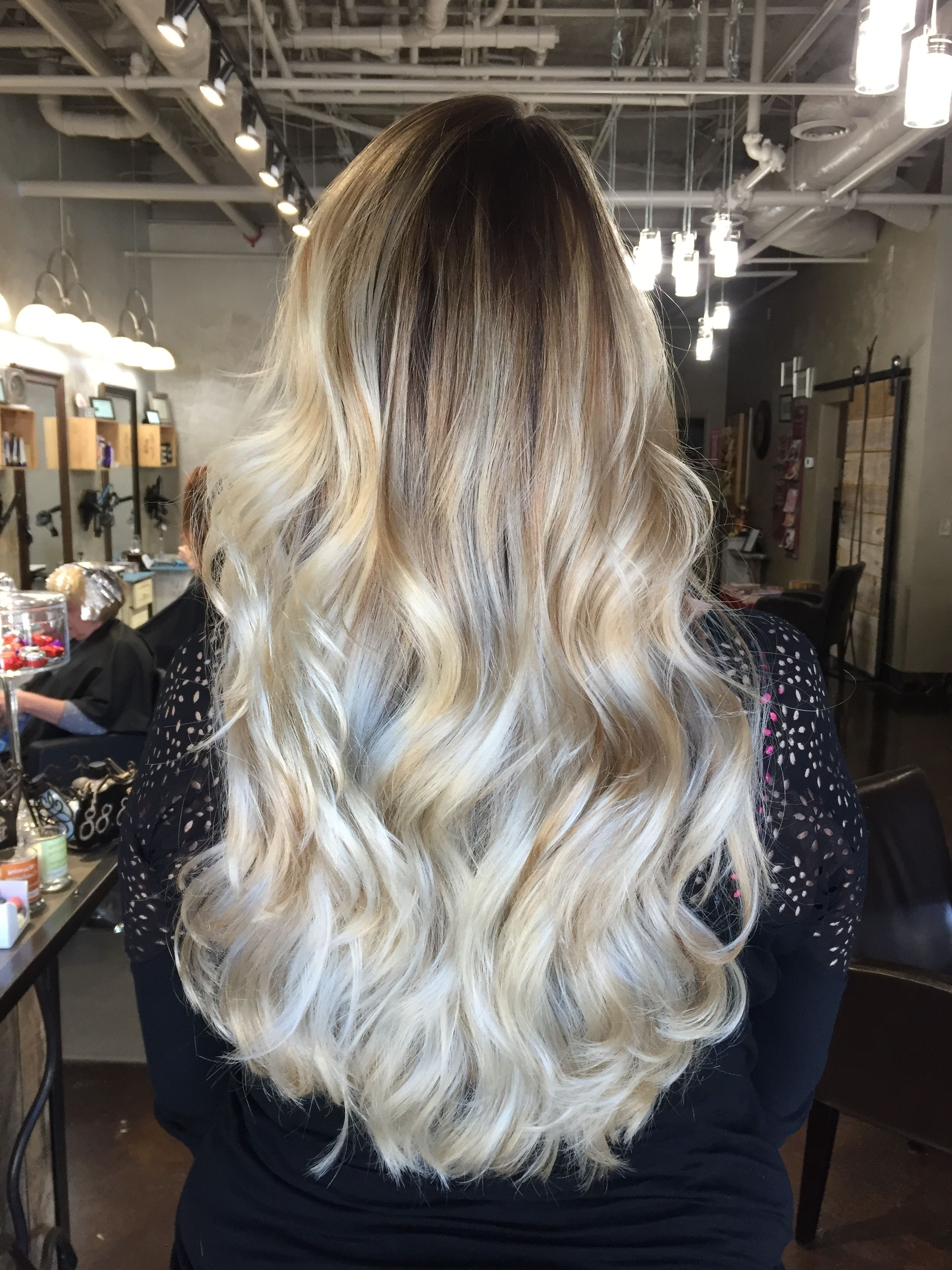 Widely Used Icy Ombre Waves Blonde Hairstyles Within Icy Blonde Ombré Balayagelindsay Banks! #hairbylindsaybanks (View 7 of 20)