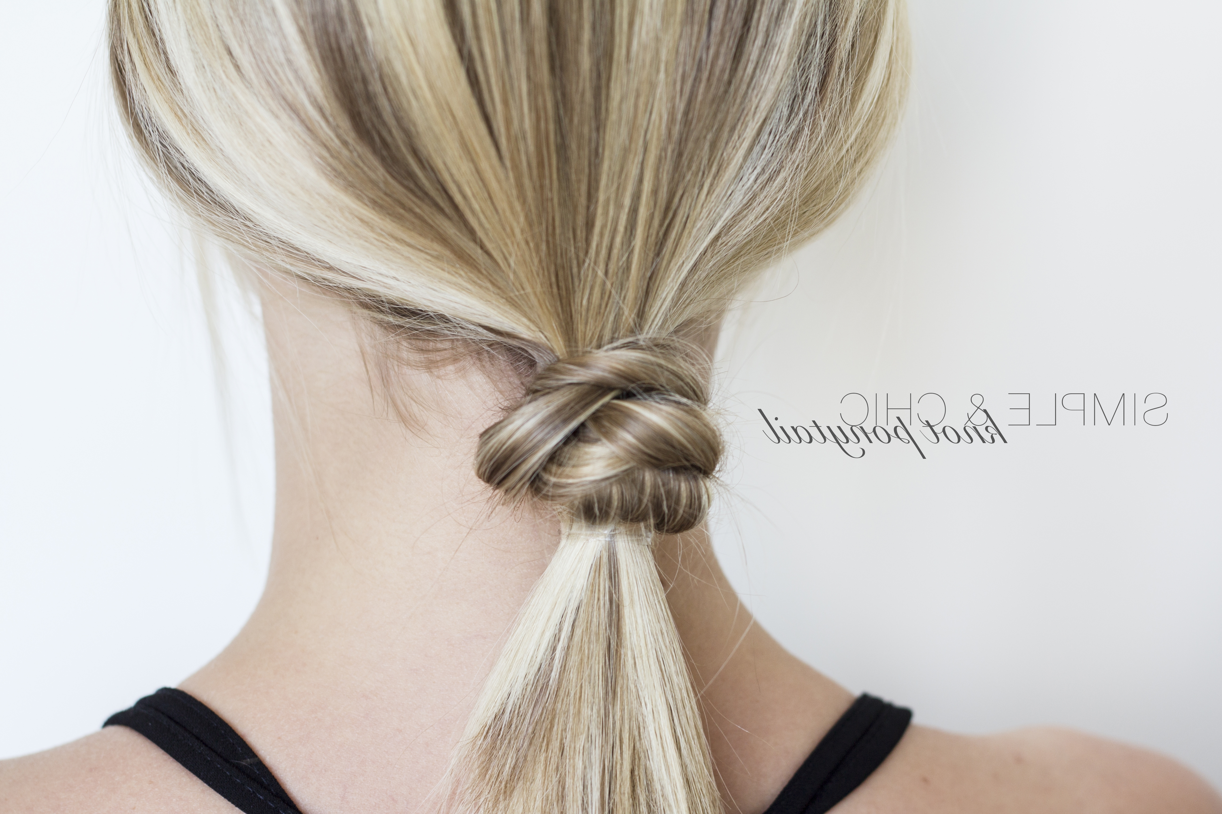 Widely Used Knotted Ponytail Hairstyles In Simple And Chic Knotted Ponytail (View 5 of 20)