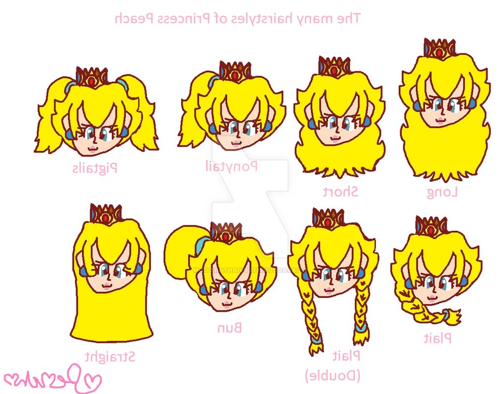 Widely Used Princess Tie Ponytail Hairstyles With The Many Hairstyles Of Princess Peachdaracoon911 On Deviantart (View 19 of 20)