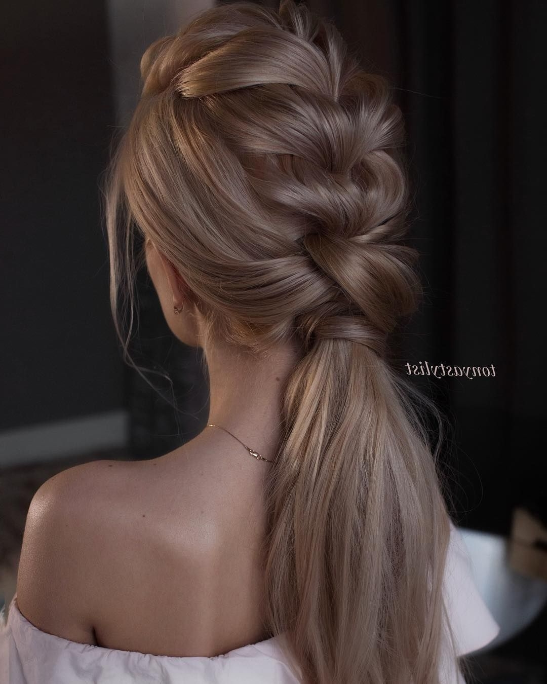 Widely Used Romantically Messy Ponytail Hairstyles Regarding Ponytail Hairstyles #weddinghair #ponytails #wedding #hairstyles (View 20 of 20)