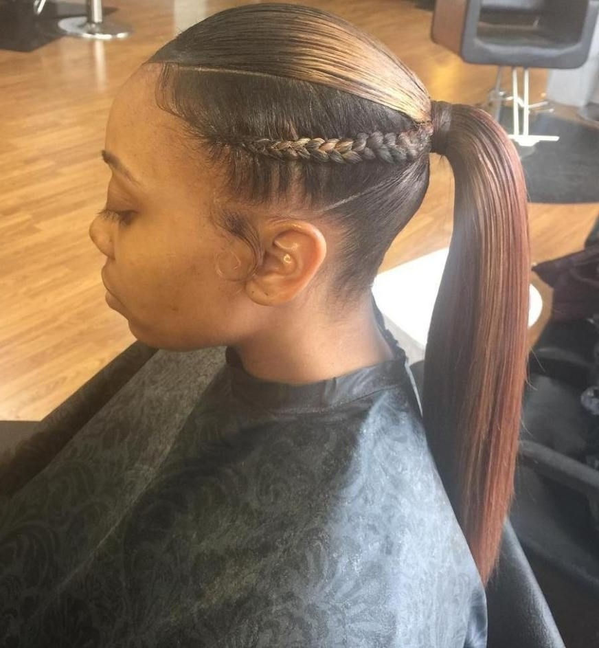 Featured Photo of Sky High Pompadour Braid Pony Hairstyles