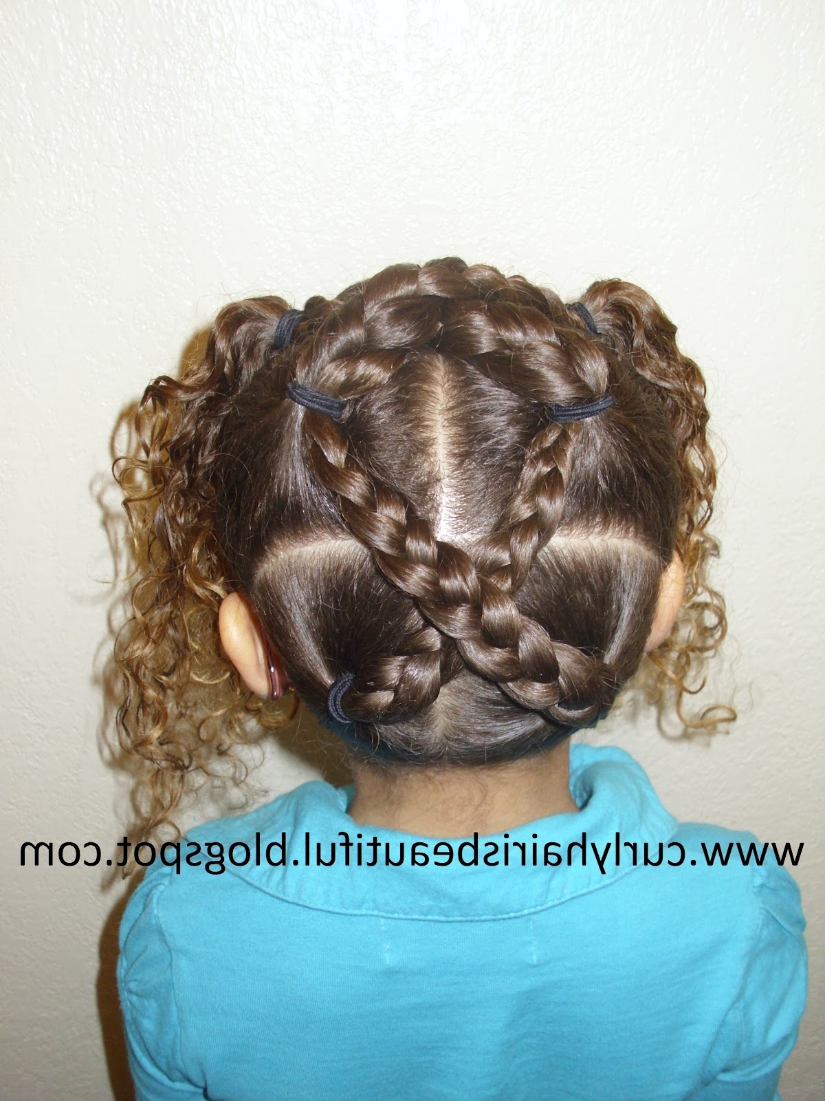Widely Used The Criss Cross Ponytail Hairstyles For Curly Hair Is Beautiful!: Criss Cross Ponytails And Curls (View 20 of 20)