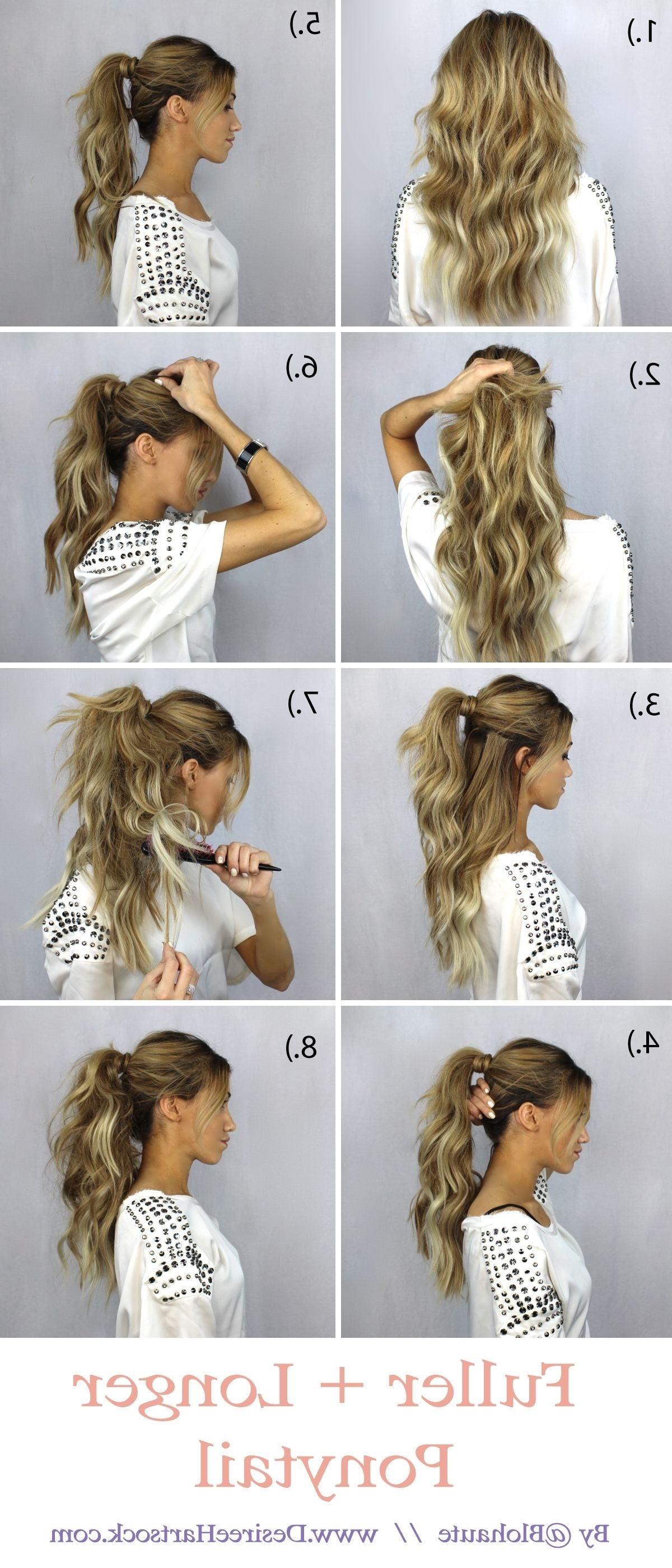 With Thin Hair And A Lot Of It That I Have, I Needed A Tutorial That With Regard To Popular Ponytail And Lacy Braid Hairstyles (View 16 of 20)